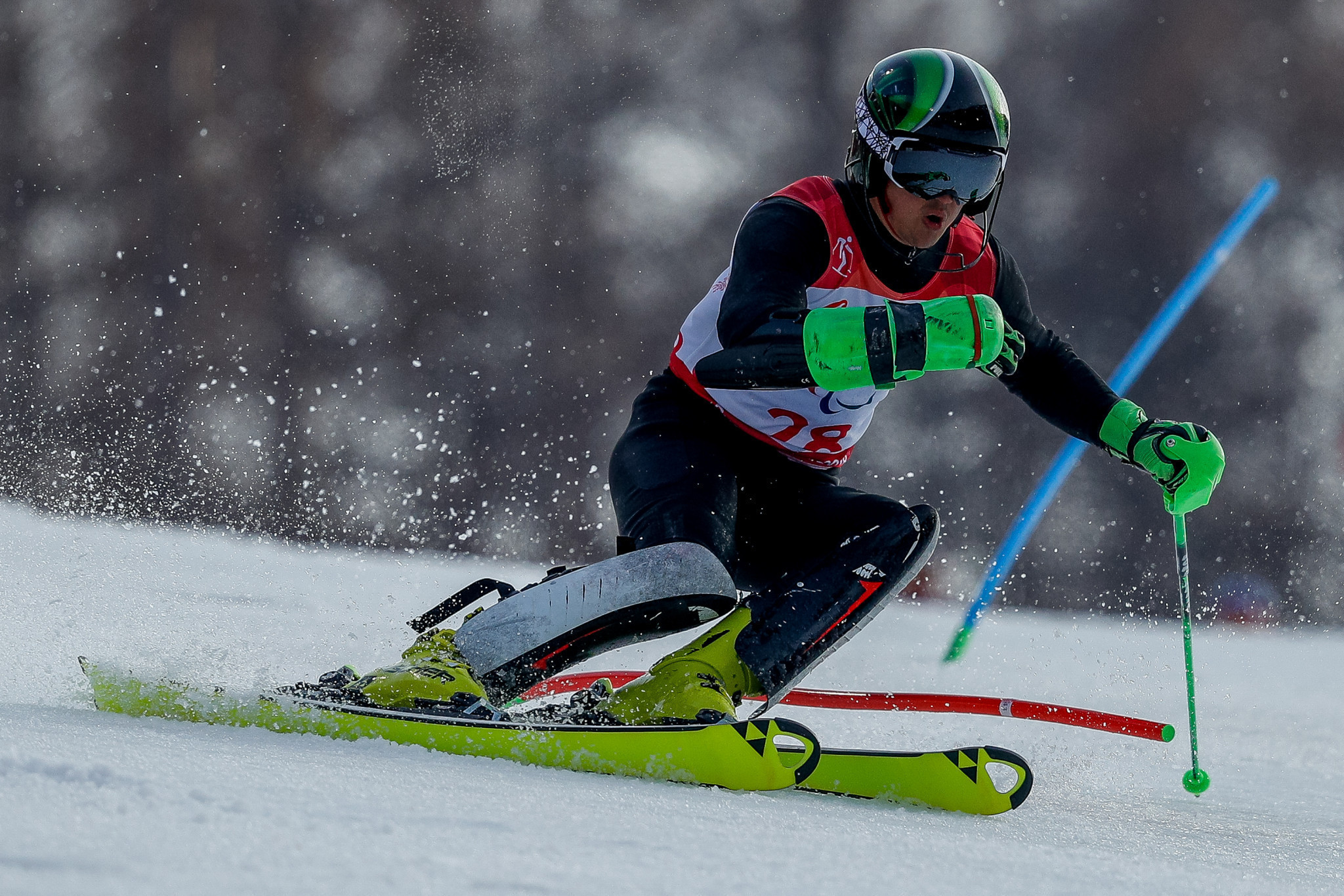 Russia's three-time Paralympic champion Aleksei Bugaev had another close series of races with France's double world champion Arthur Bauchet ©Getty Images