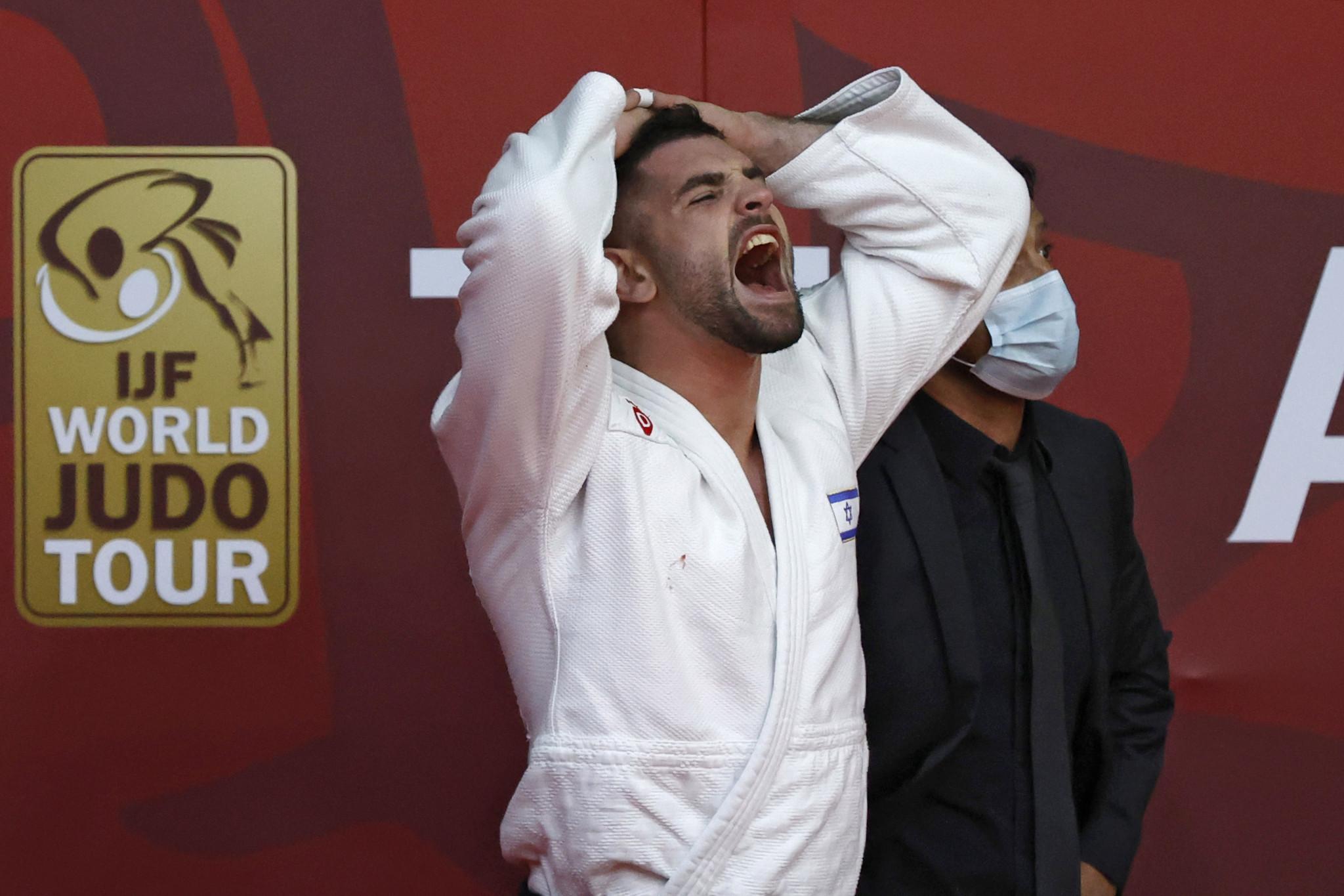 Le numéro deux mondial Peter Balchik a dû se contenter de l'argent à domicile en Israël dans la catégorie hommes moins de 100 kg. © Getty Images