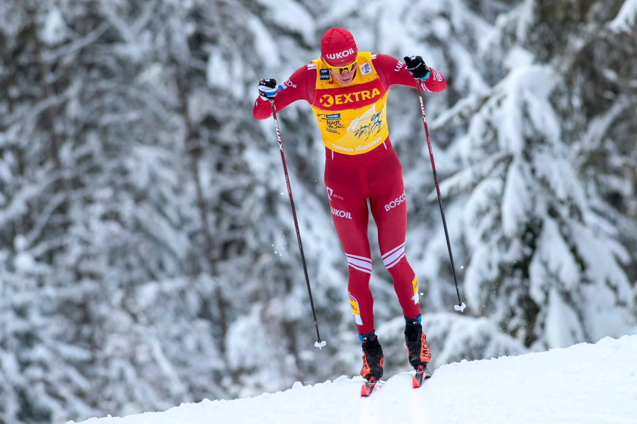 Russia's Alexander Bolshunov leads the men's overall Cross-Country World Cup standings ©Getty Images