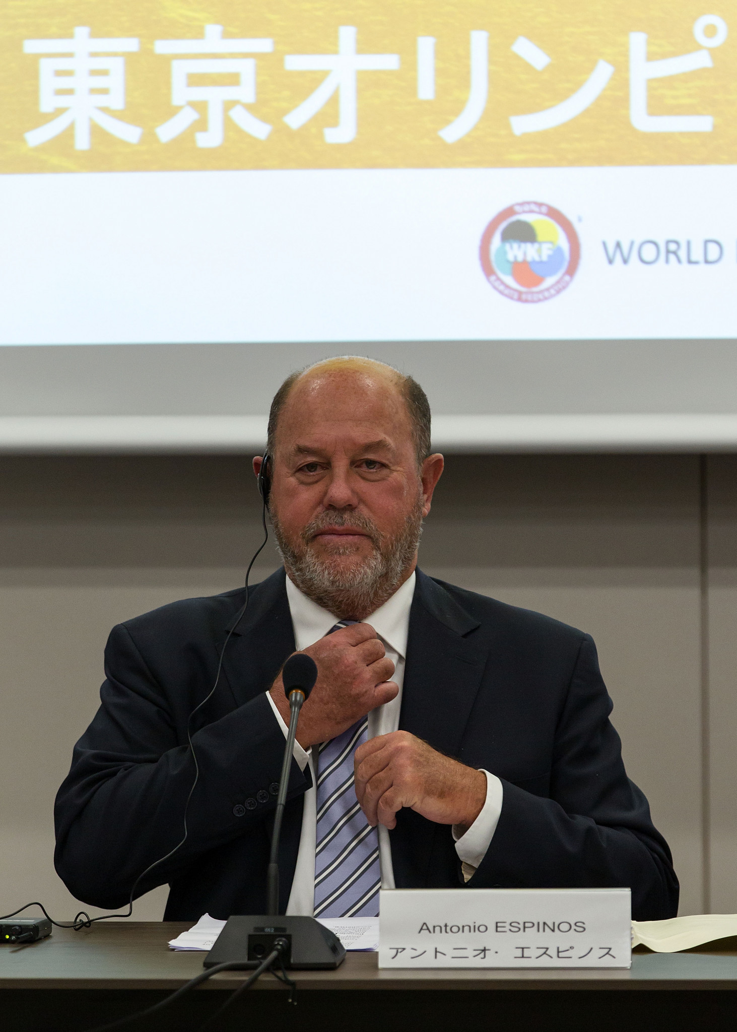 WKF President Antonio Espinós claimed the reasoning behind karate's exclusion from Paris 2024 was