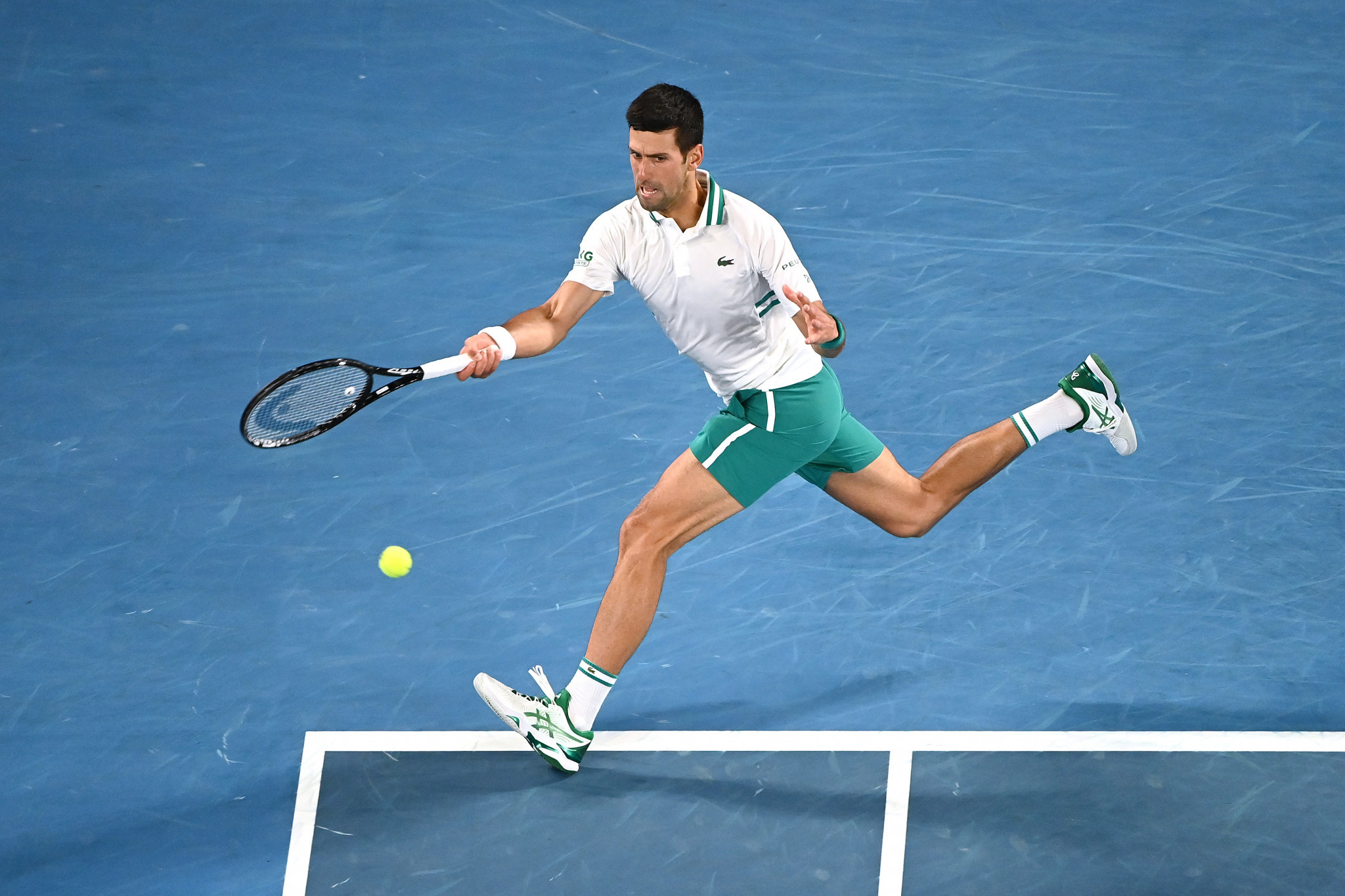 Serbian star Djokovic clinched a tight first set before powering to a convincing victory over Russia's Medvedev ©Getty Images