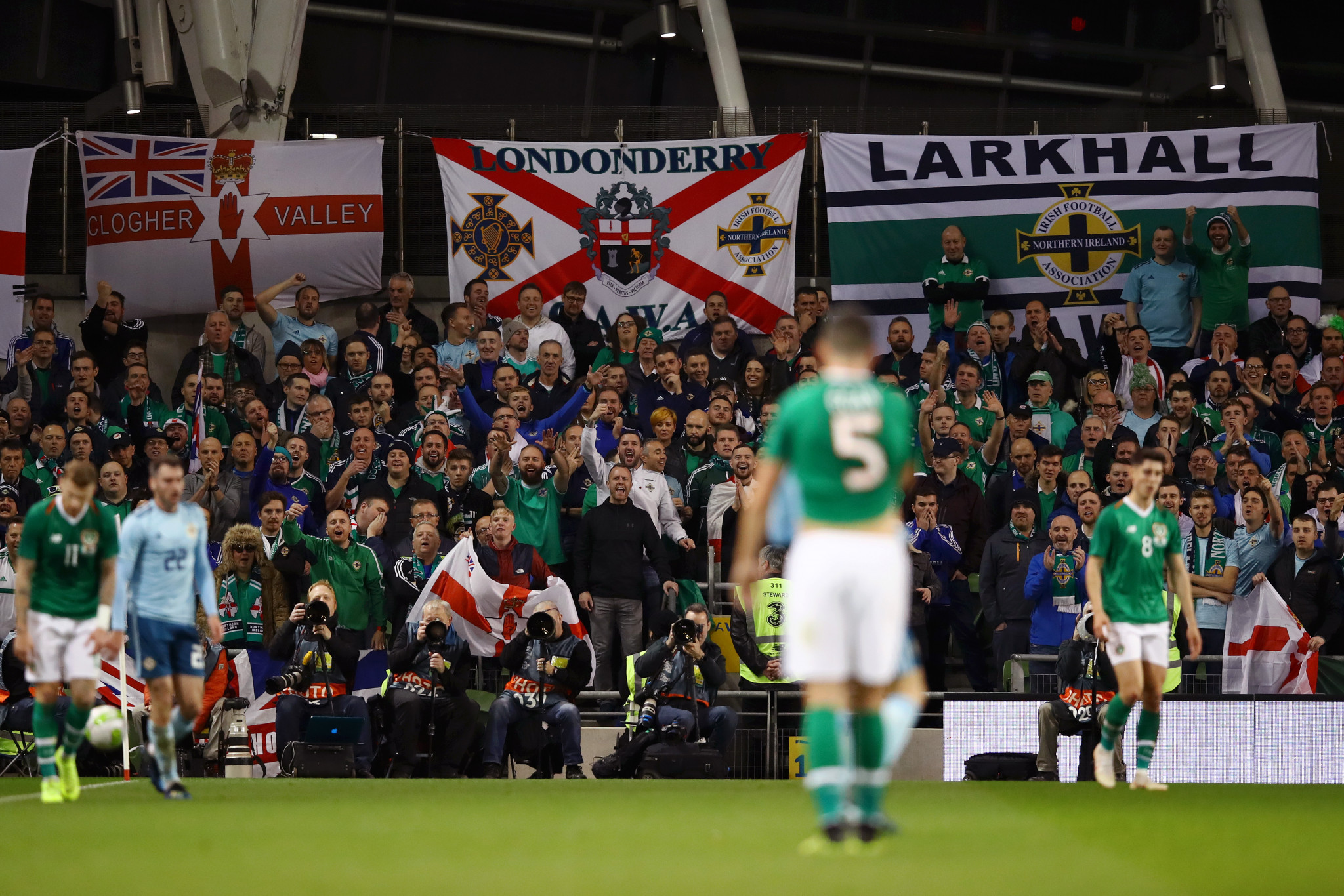 The Republic of Ireland and Northern Ireland last played in a friendly in November 2018, which ended goalless ©Getty Images
