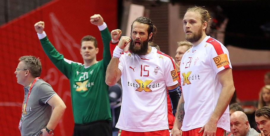 Late show from Denmark earns second round berth at European Men's Handball Championship