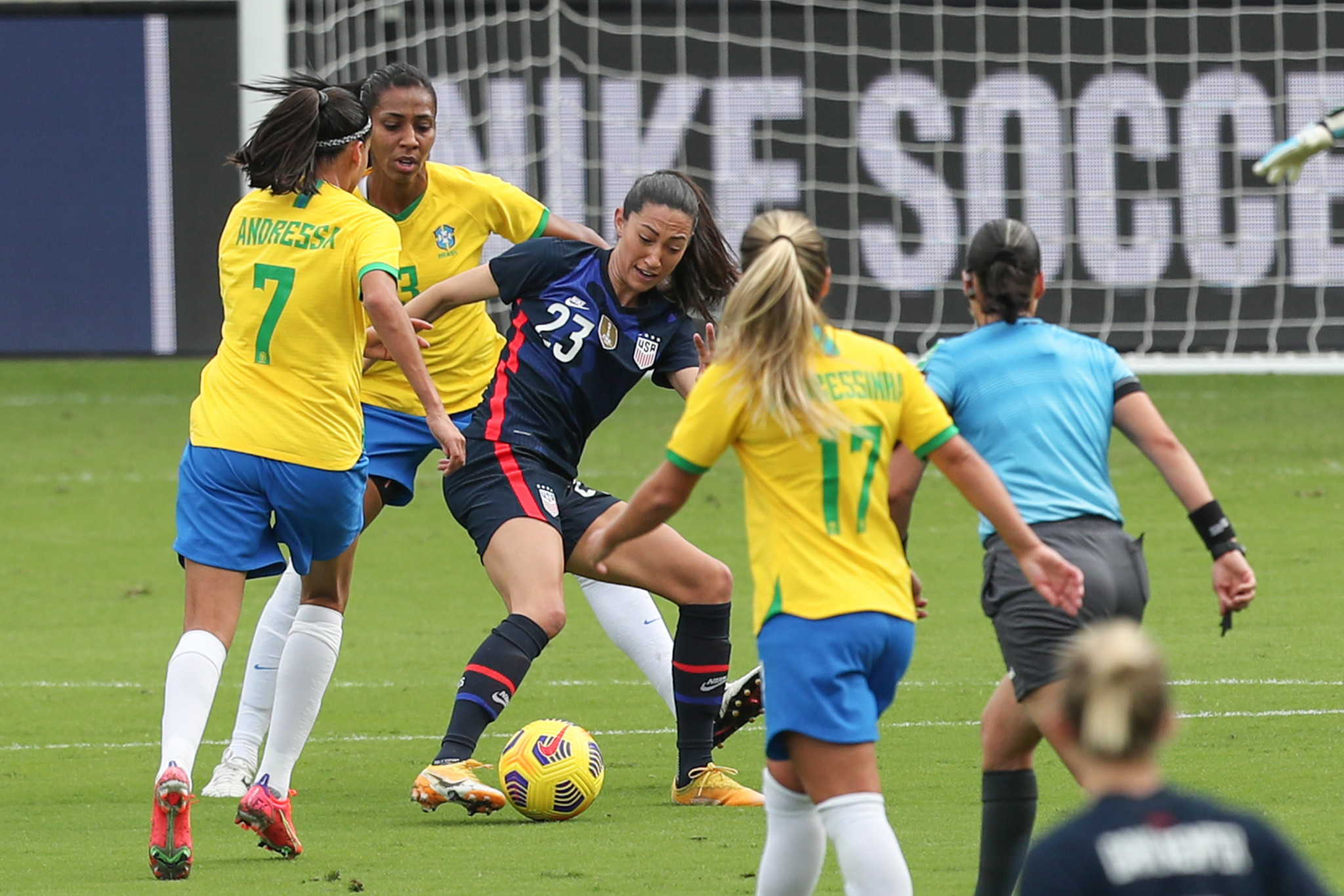 Press and Rapinoe goals see United States beat Brazil