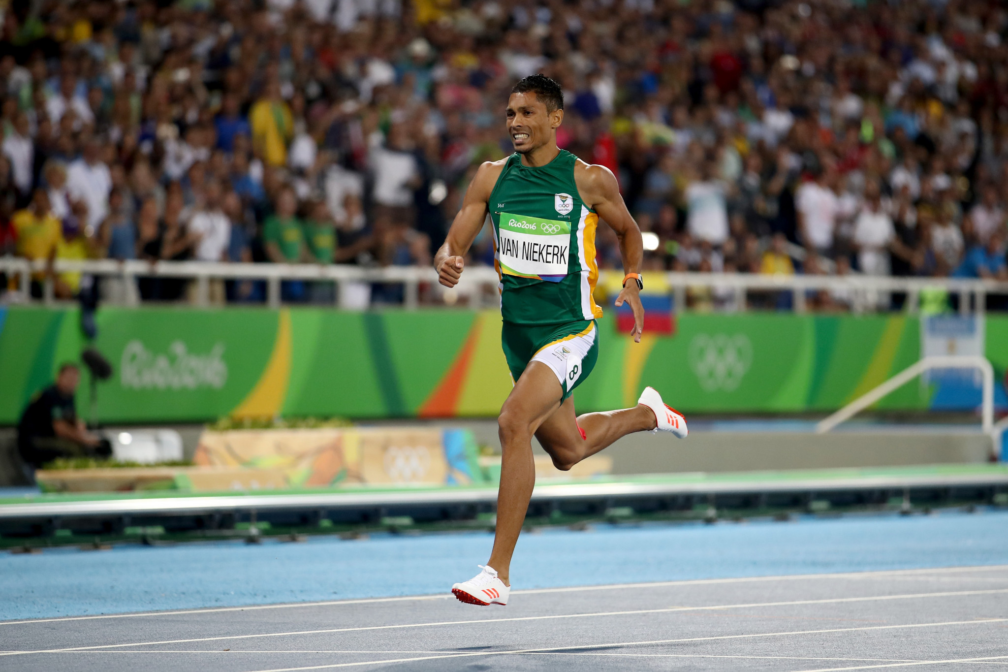 Wayde van Niekerk set a new world record as he won the men's 400m at the Rio 2016 Olympic Games ©Getty Images