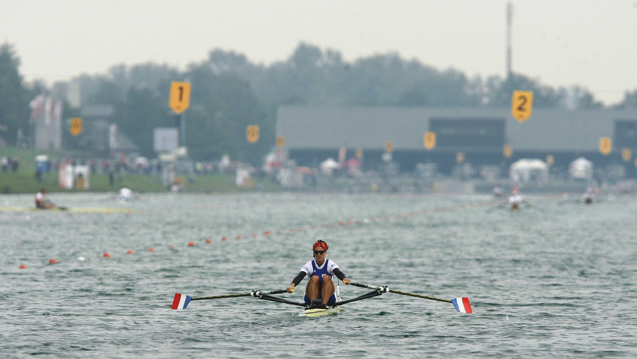 The historic Oberschleißheim regatta course staged the 2007 World Rowing Championships ©Getty Images