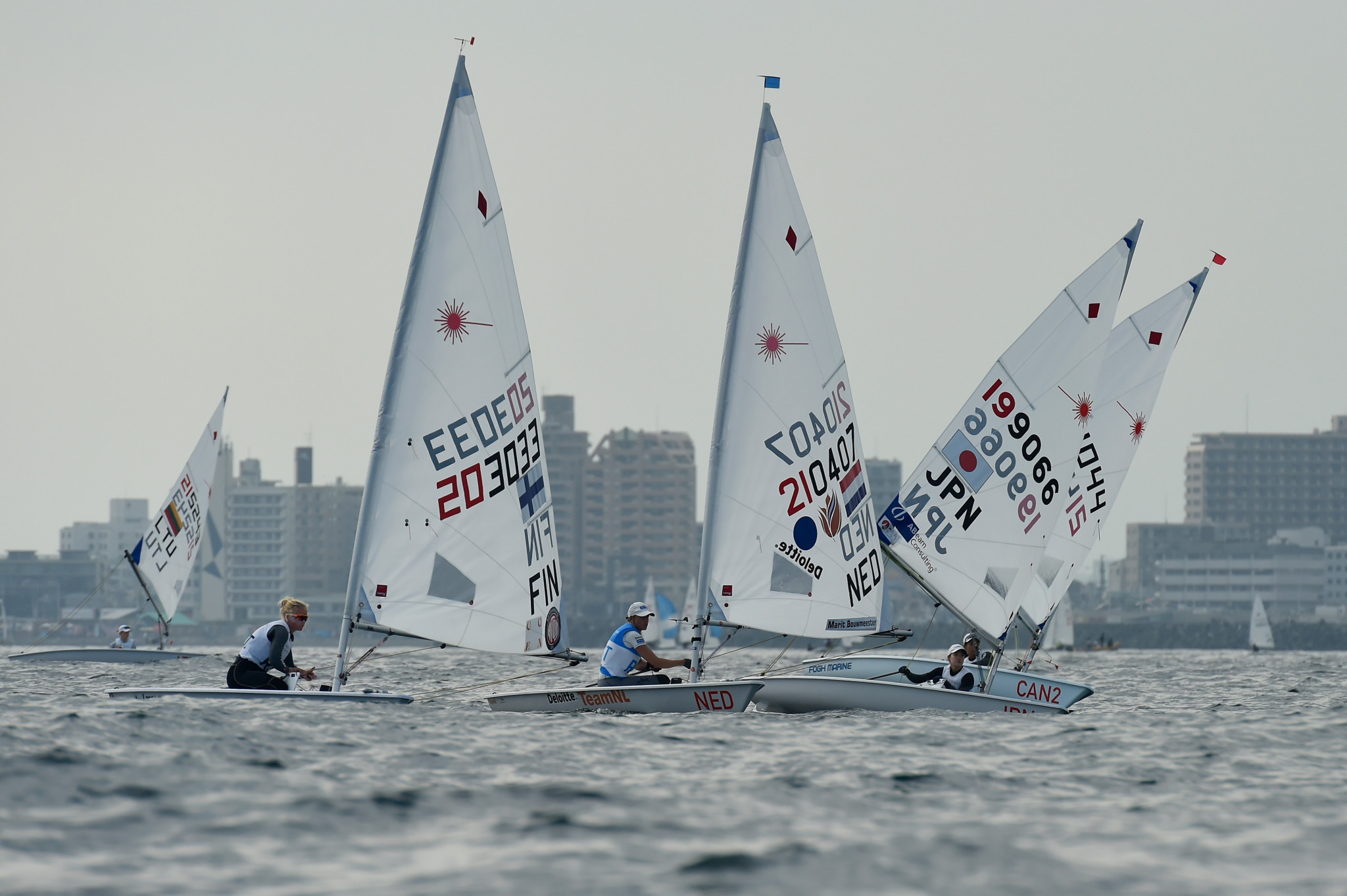 A total of 350 sailors are expected to compete in Enoshima in Japan at this year's rescheduled Olympic Games ©Getty Images