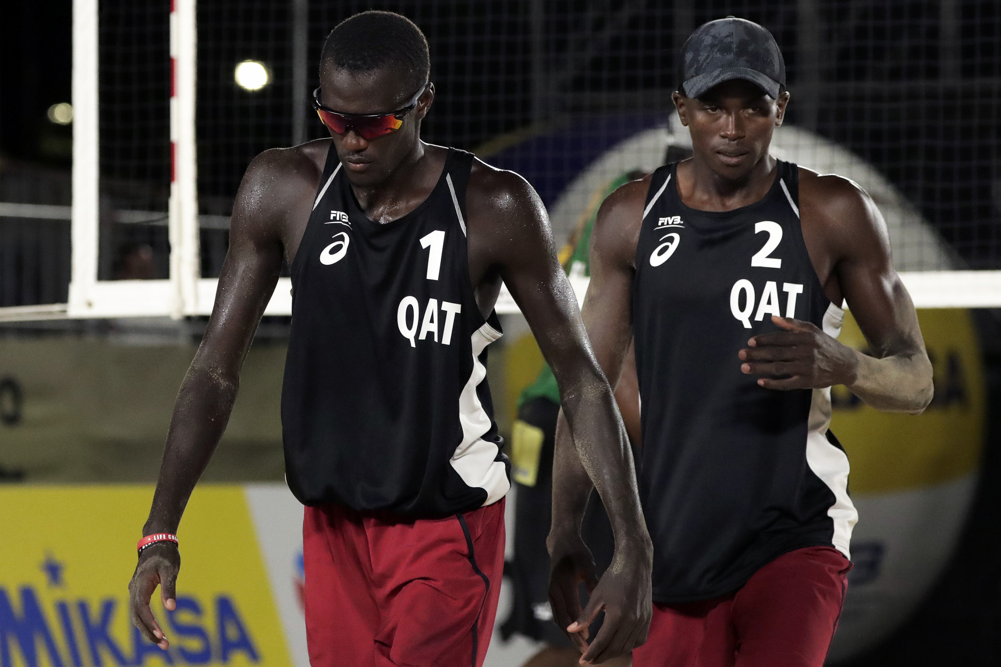 Qatar's Cherif Younousse Samba and Ahmed Tijan headline the Doha Beach Volleyball Cup ©Getty Images