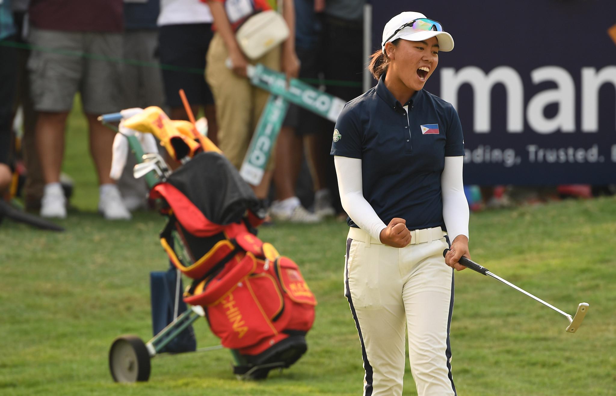 Yuka Saso won two gold medals for the Philippines at Jakarta-Palembang 2018 ©Getty Images