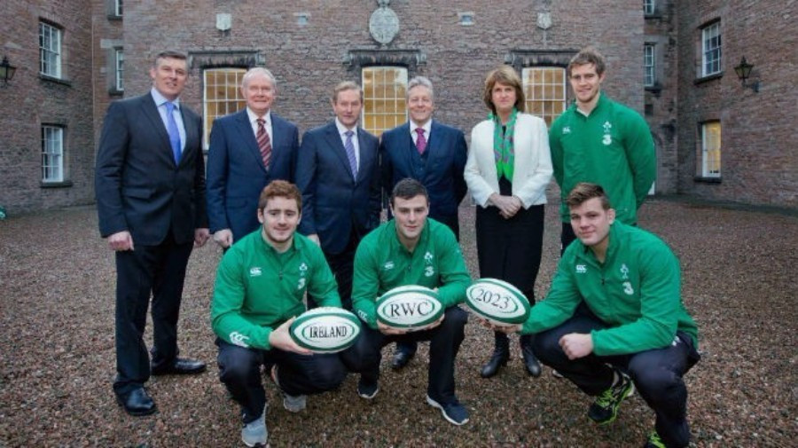 The All-Ireland bid for the 2023 Rugby World Cup was launched at the Royal School Armagh in December 2014 ©www.Inpho.ie