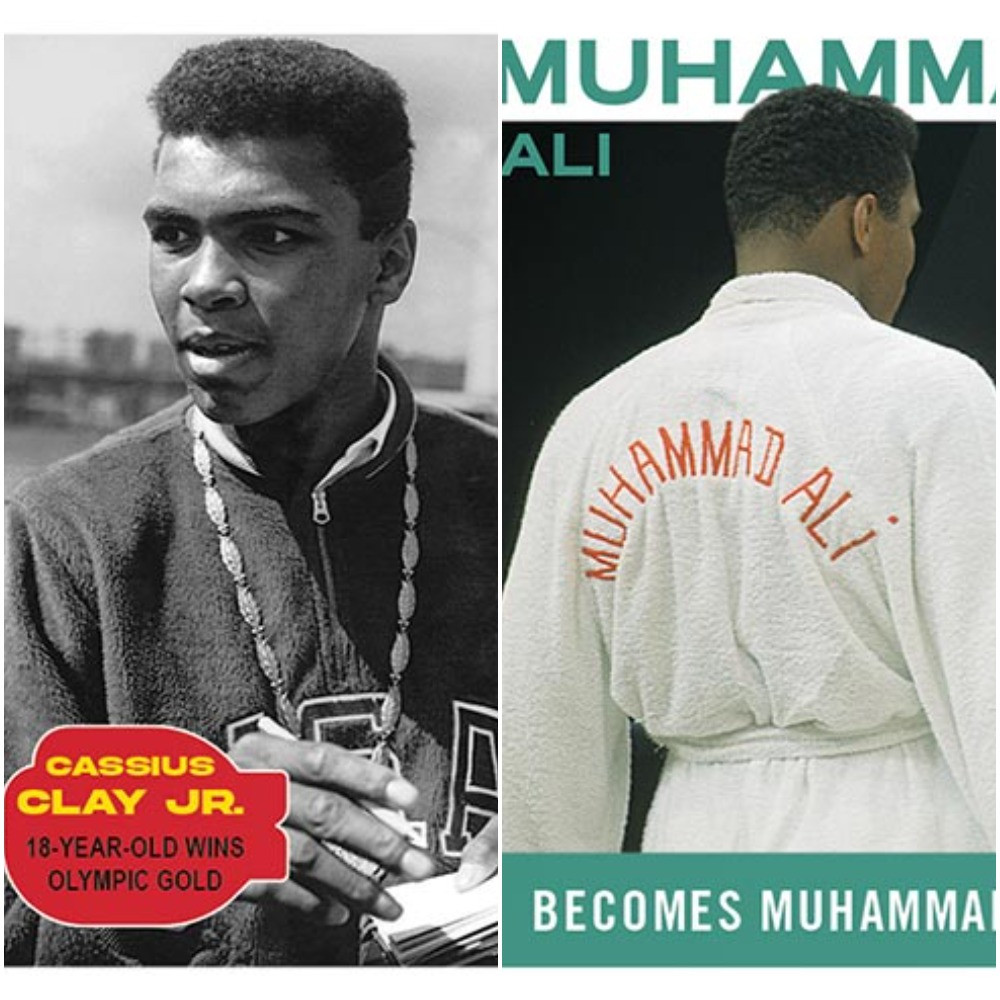 The new Topps cards feature the most significant moments of Muhammad's life ©Topps Trading Cards