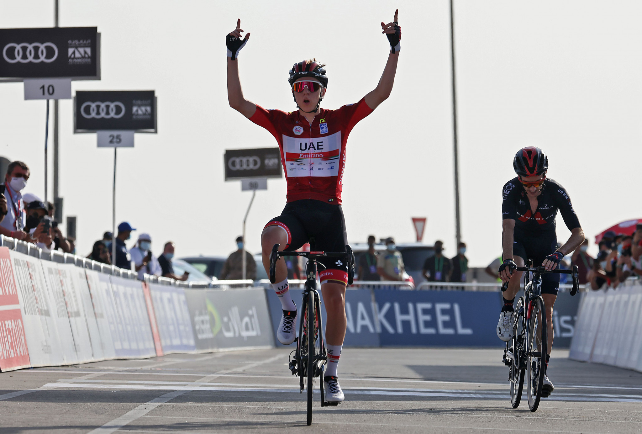 Pogačar extends UAE Tour race lead with stage win on Jebel Hafeet