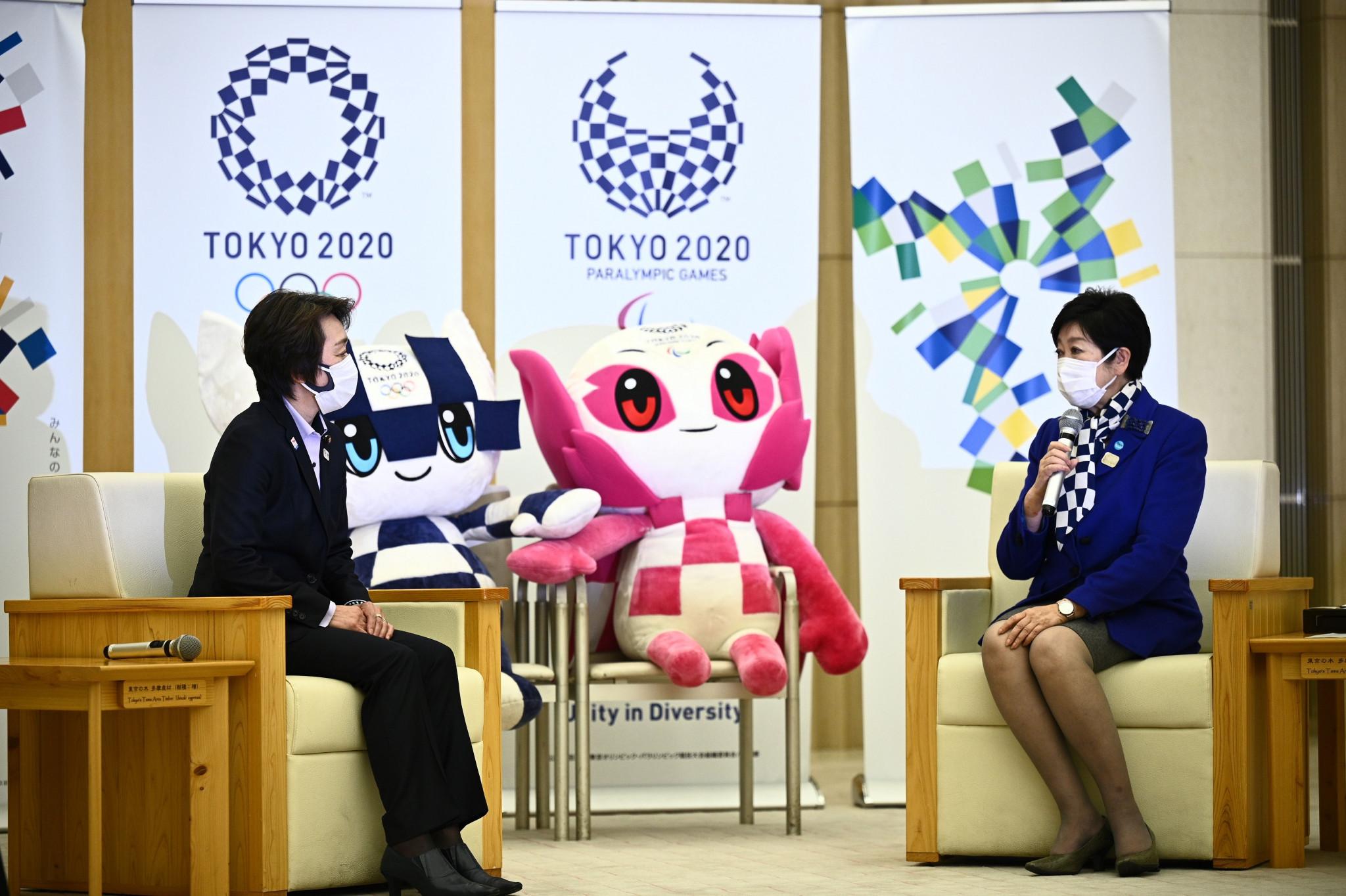 Ο νέος πρόεδρος του Τόκιο 2020, Seiko Hashimoto, αριστερά, συναντήθηκε με τον κυβερνήτη του Τόκιο, Yuriko Koike © Getty Images