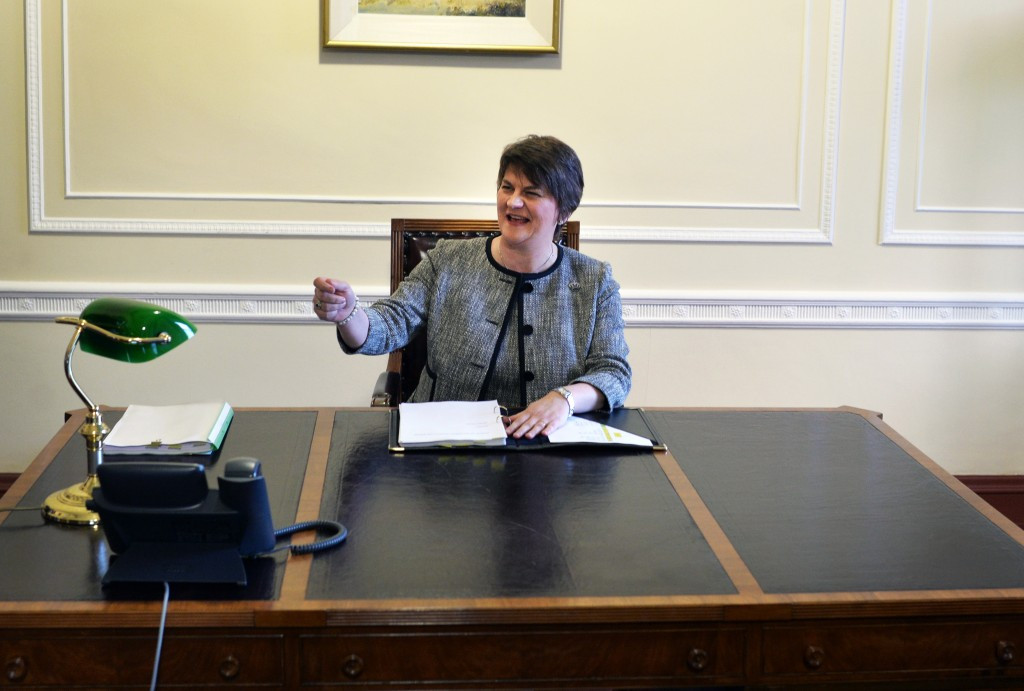 Northern Ireland First Minister Arlene Foster has reiterated their commitment to launch a compelling bid for the 2023 Rugby World Cup ©Getty Images
