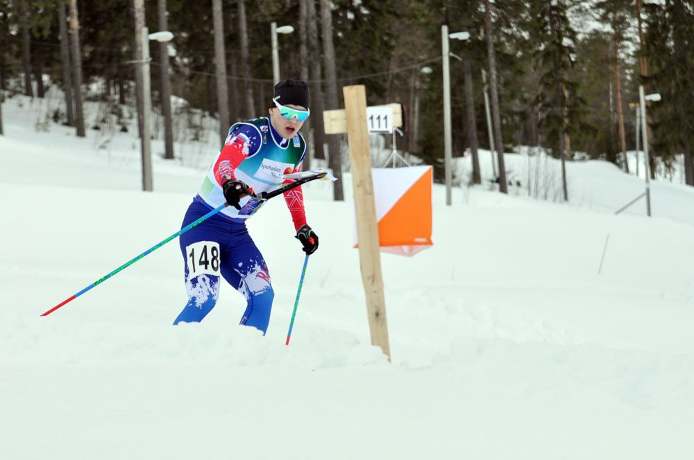 Russia's Vladislav Kiselev, competing as a neutral, won sprint gold on the opening day of the World Ski Orienteering Championships in Estonia ©IOF