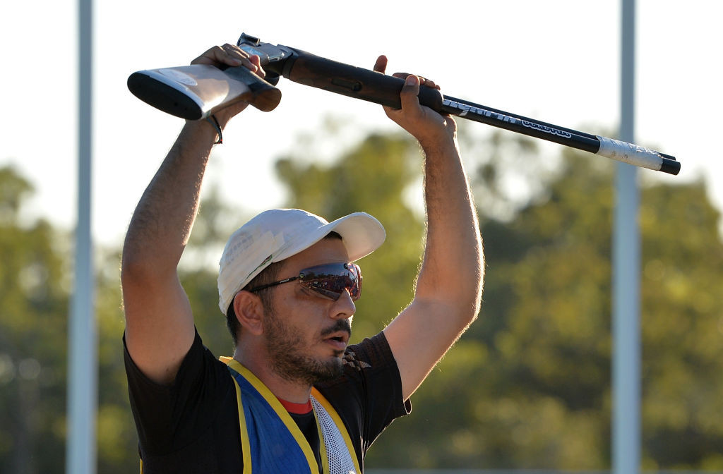 Commonwealth Games and former world champion Georgios Achilleos is joint leader of qualifying in the men's skeet at the ISSF World Cup in Cairo ©Getty Images