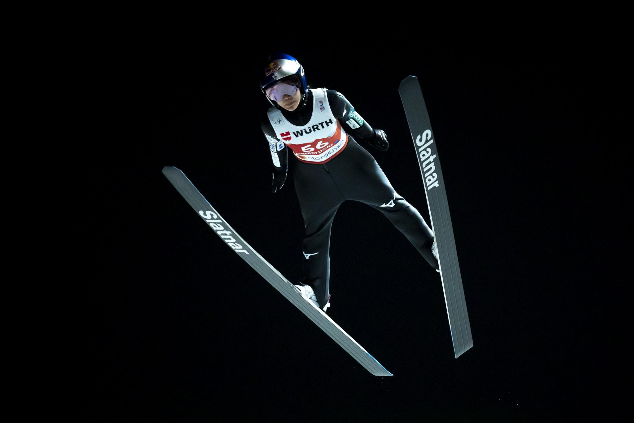 Takanashi tops women's ski jumping qualifying at Nordic World Ski Championships