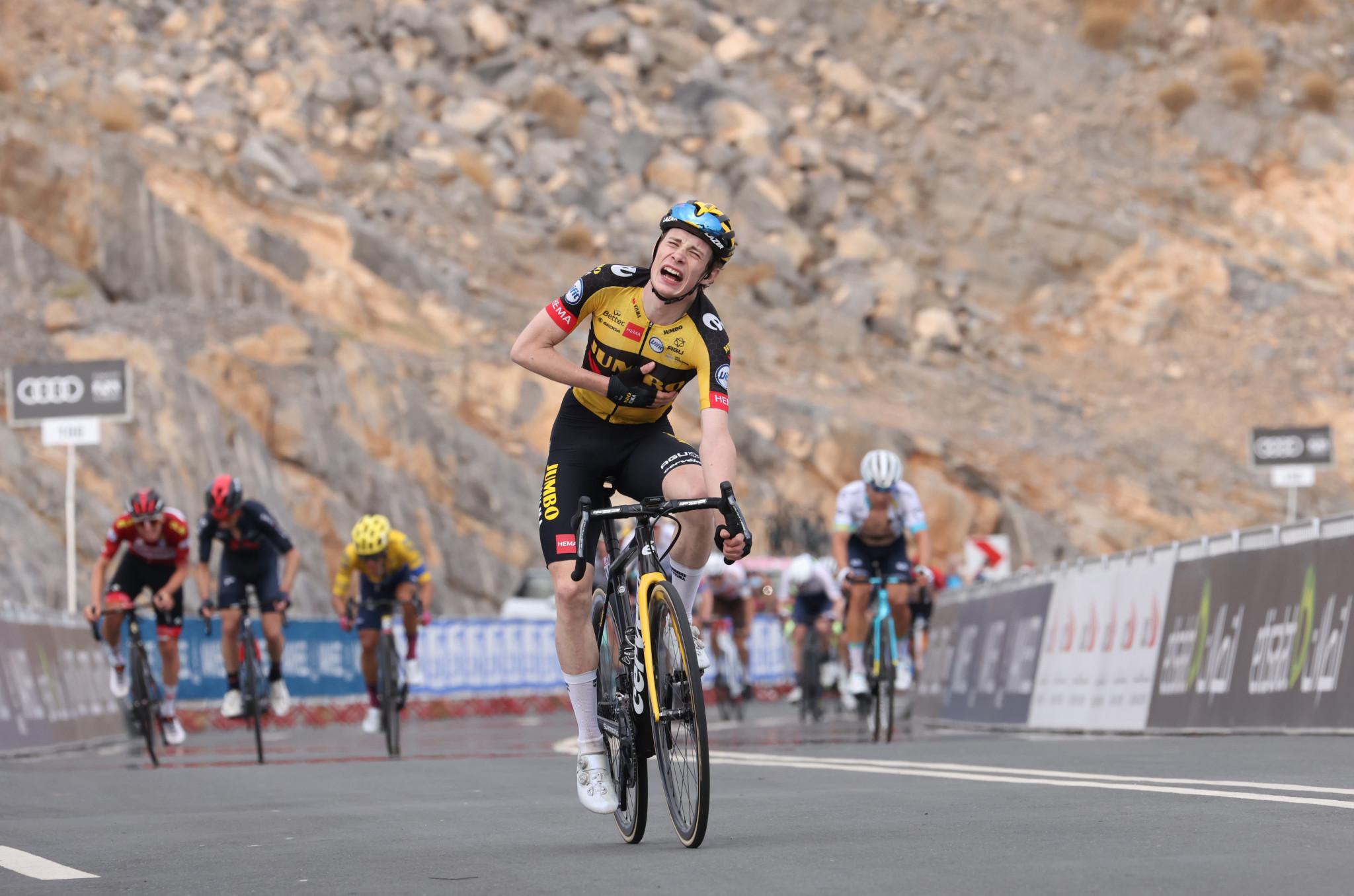 Vingegaard wins stage five of UAE Tour as Pogacar retains race lead