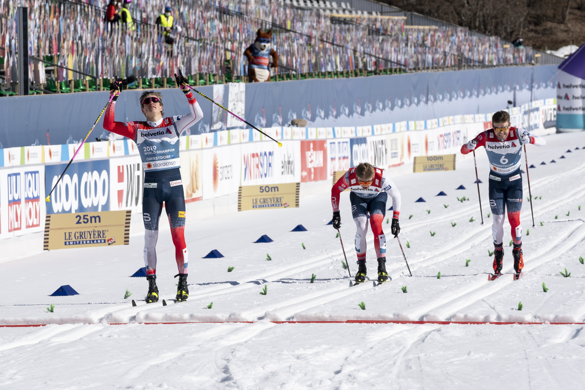 Klæbo defends cross-country sprint title at Nordic World Ski Championships