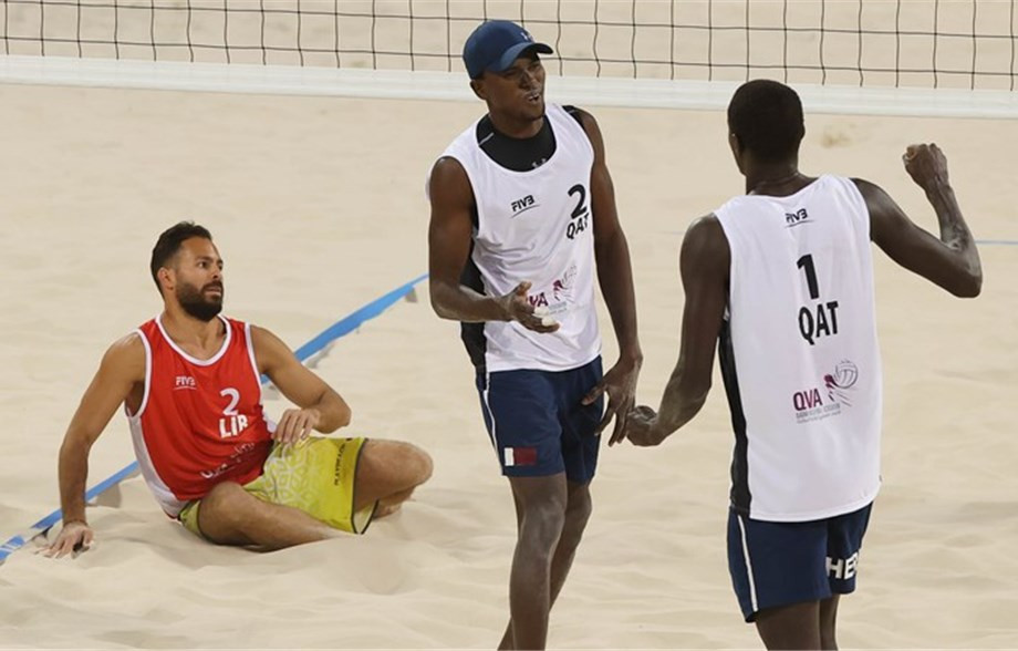 Home pairing Cherif and Ahmed into semi-finals of Doha Beach Volleyball Cup
