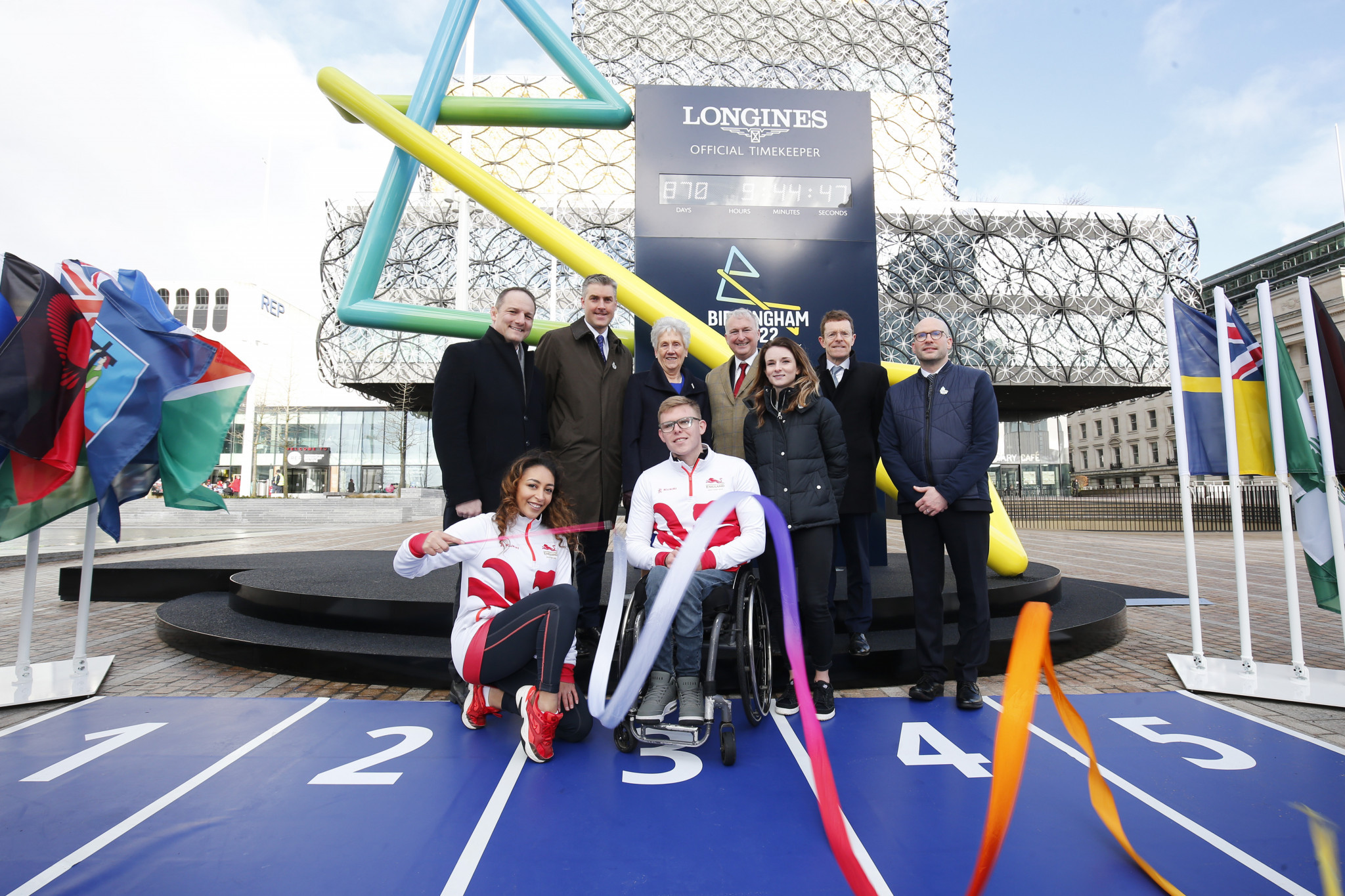 Birmingham 2022 chief executive Ian Reid, back row second in from left, is close friends with Commonwealth Games Federation boss David Grevemberg, left ©Getty Images