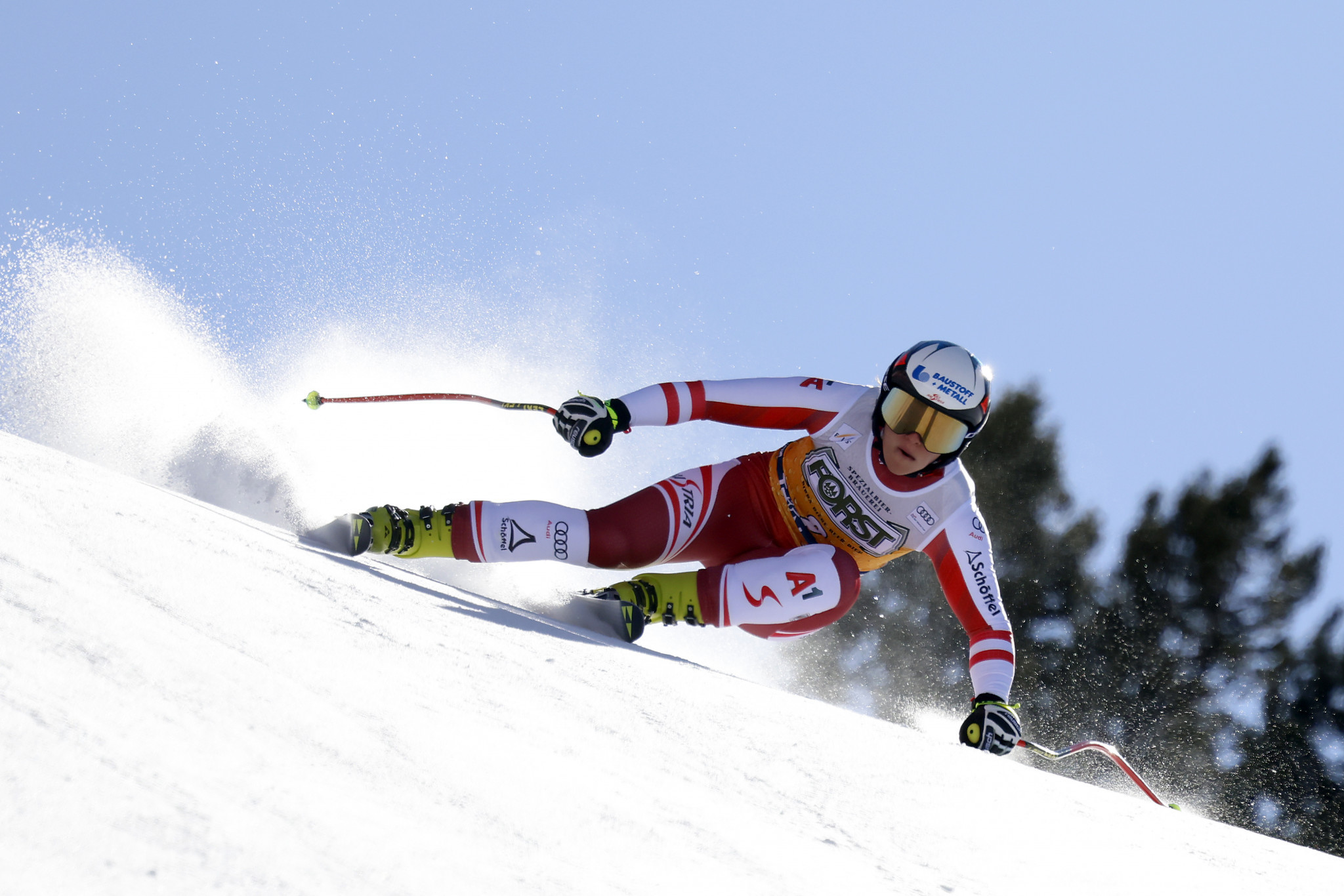 Ramona Siebenhofer of Austria just missed out on gold in Val di Fassa ©Getty Images