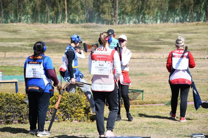 Russian men and women triumph in skeet team events at ISSF World Cup in Cairo