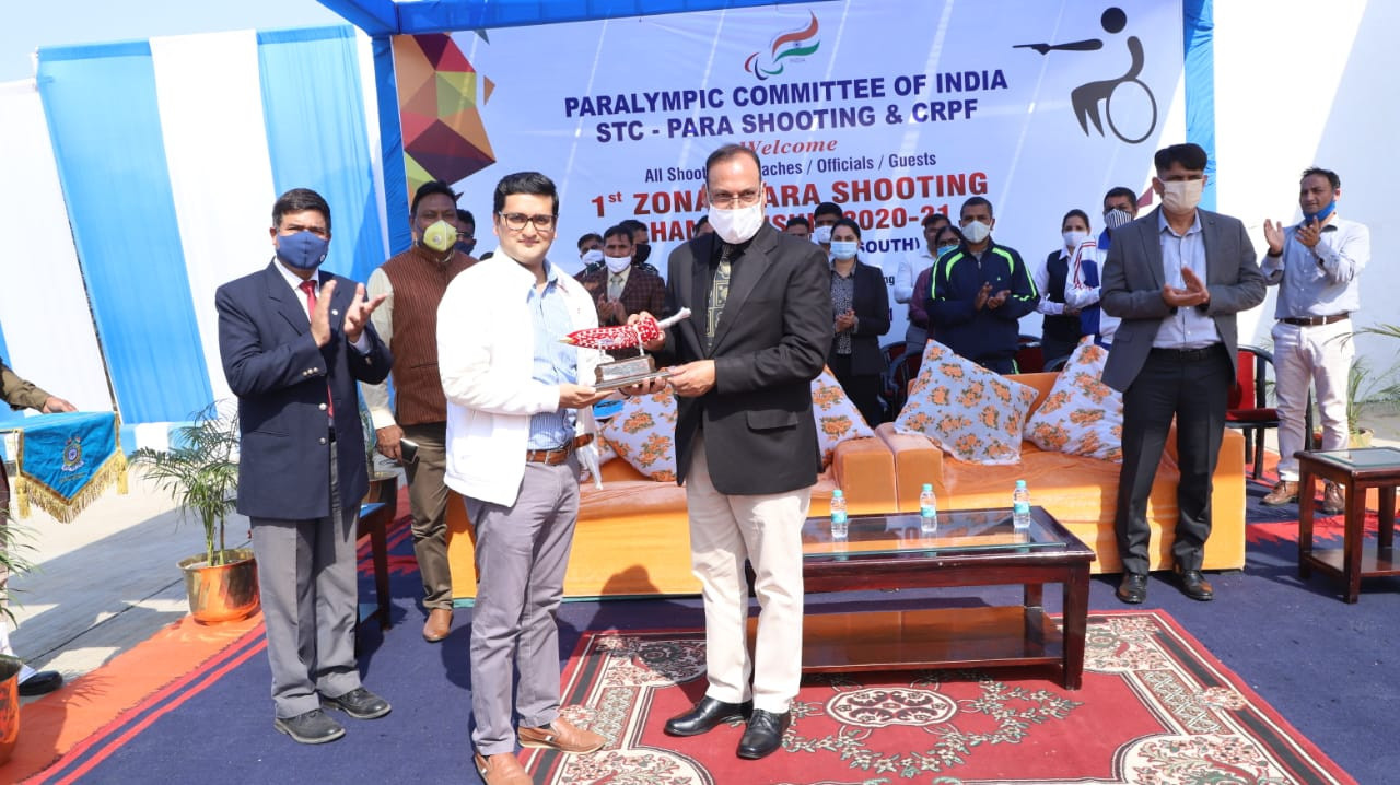 Paralympic Committee of India administrator Rahul Swami was also present at the historic launch of India's first para shooting Zonal Championships in Kadarpur ©PCI