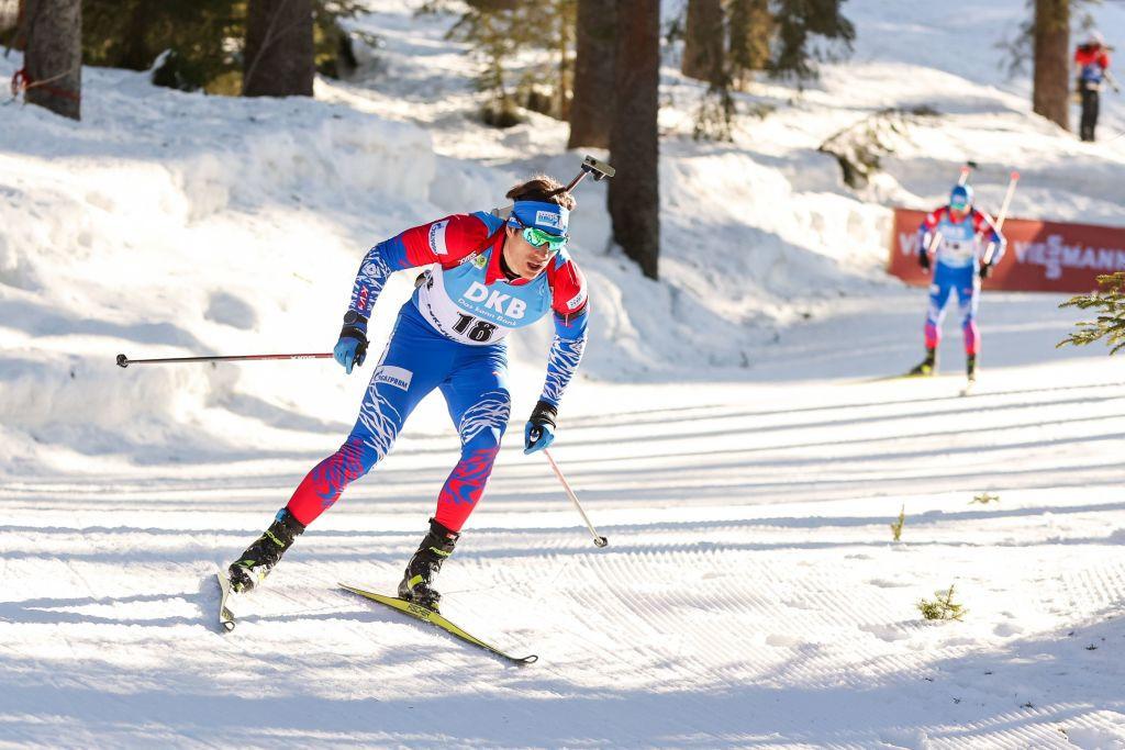 Российские спортсмены носят форму цветов флага страны на недавнем чемпионате мира по биатлону © Getty Images