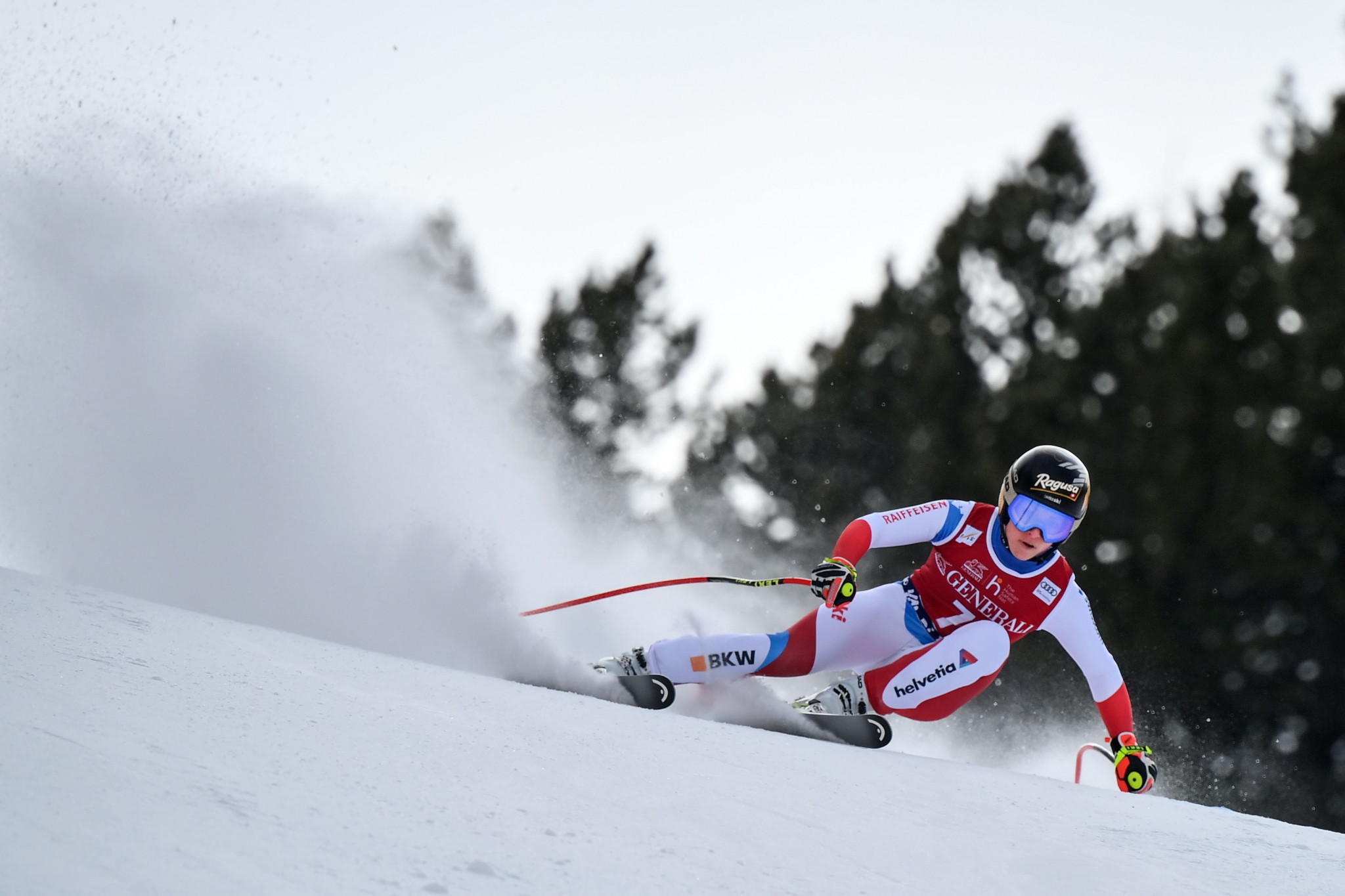Gut-Behrami wins fourth World Cup race on the spin with Val di Fassi downhill triumph
