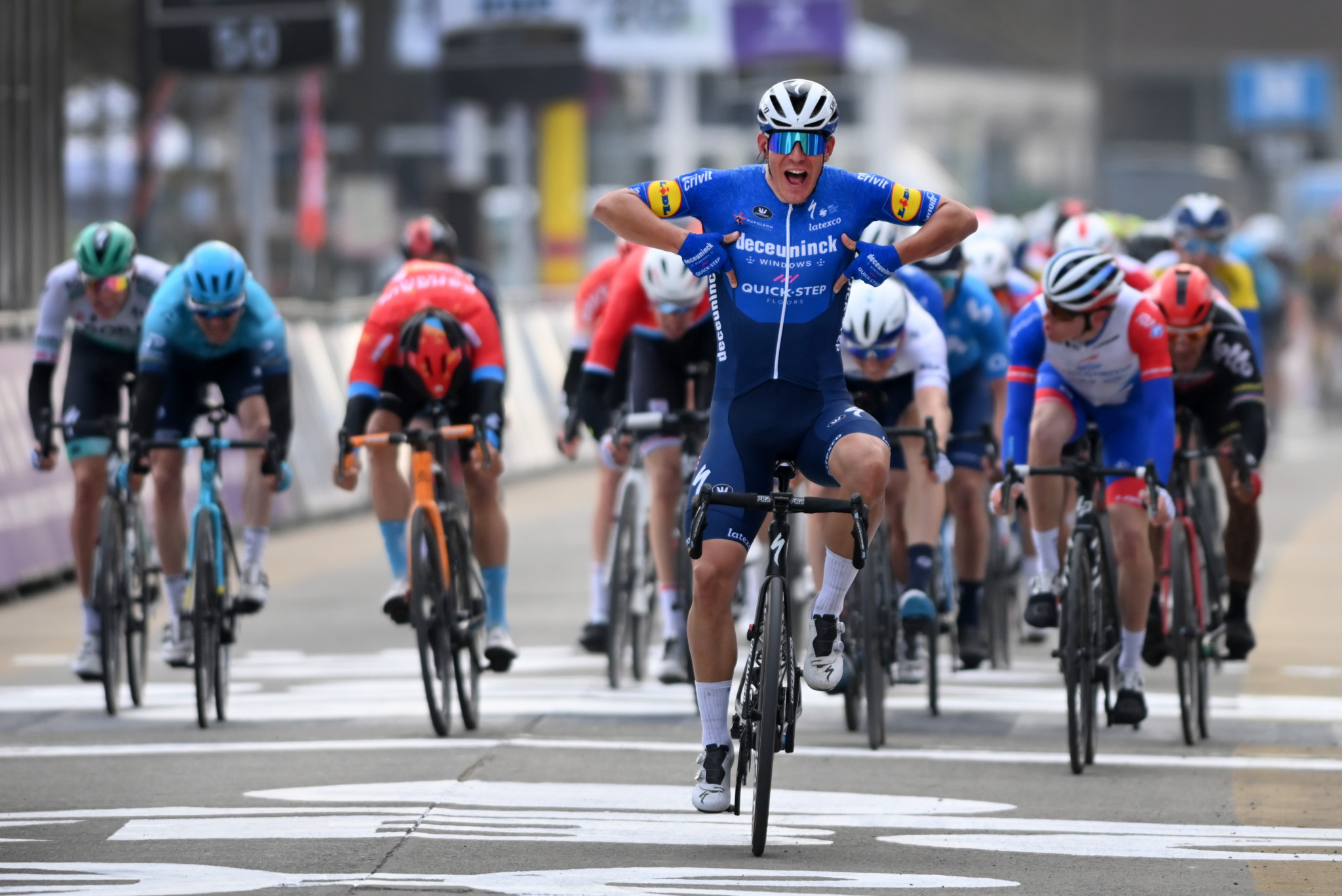 Davide Ballerini gave Deceuninck–Quick-Step  victory in the first classic of the season ©Getty Images