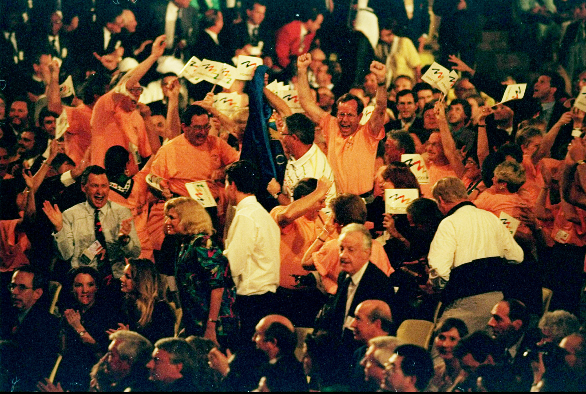 Delegates celebrate Sydney being awarded the 2000 Olympics and Paralympics. For the 2032 Games, Brisbane will not be embroiled in the same kind of bid race ©Getty Images