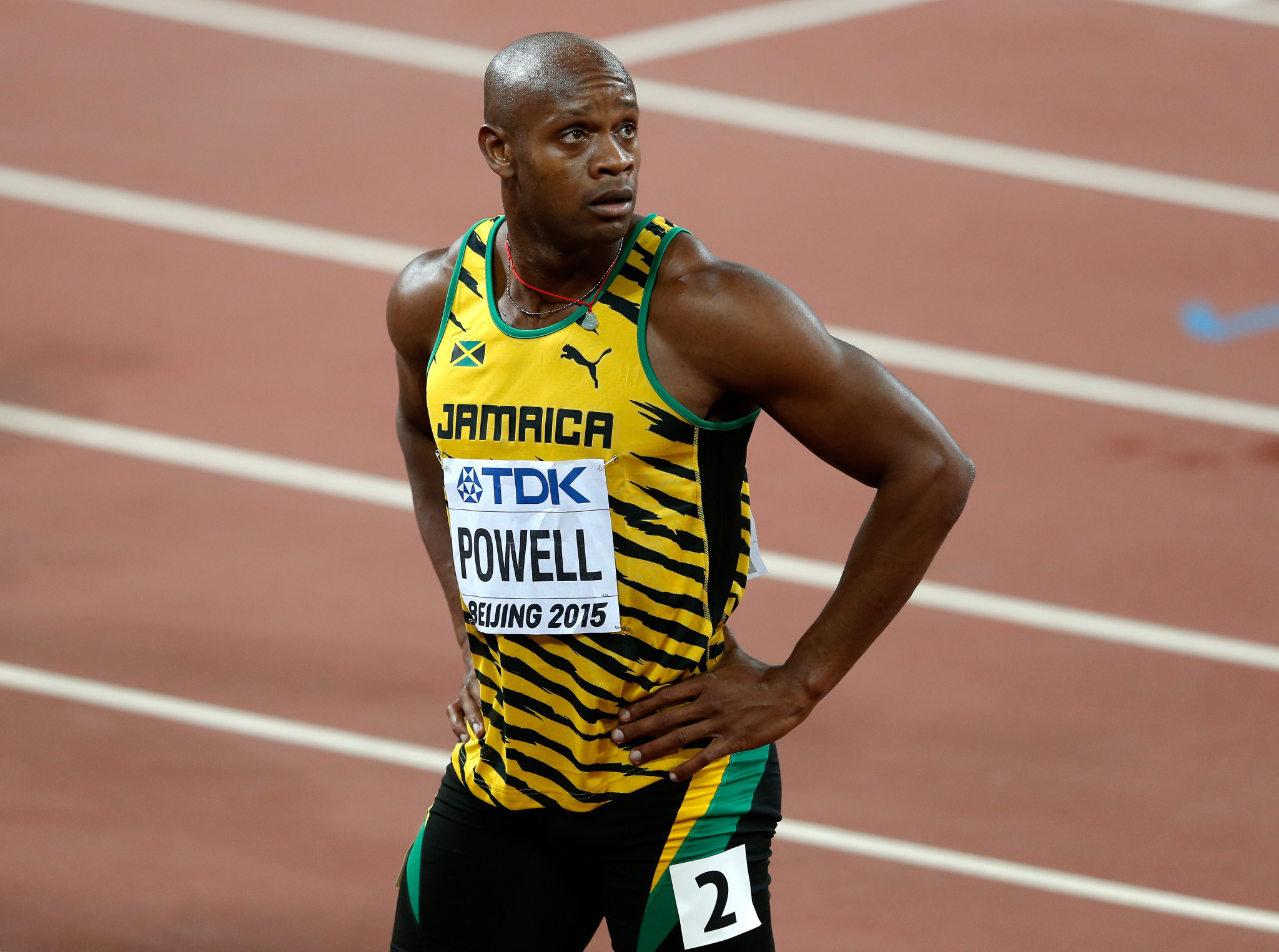 When asked about a coronavirus vaccine, Asafa Powell suggested he may as well retire if he were not willing to be vaccinated ©Getty Images