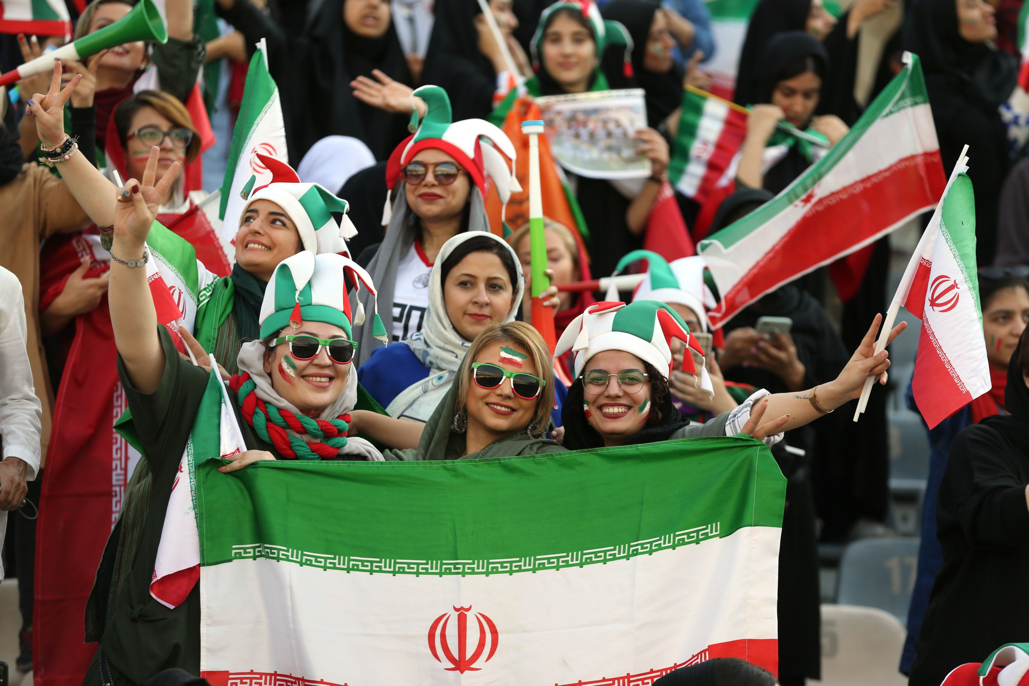 Iran has faced criticism over its policy of banning women from entering stadiums, but newly-elected FFIRI President Azizi Khadem claimed he would support women's football ©Getty Images