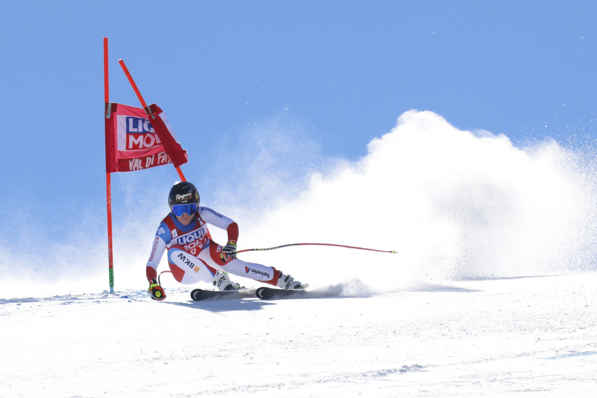 Lara Gut-Behrami has finished in the top three in eight consecutive World Cup races ©Getty Images