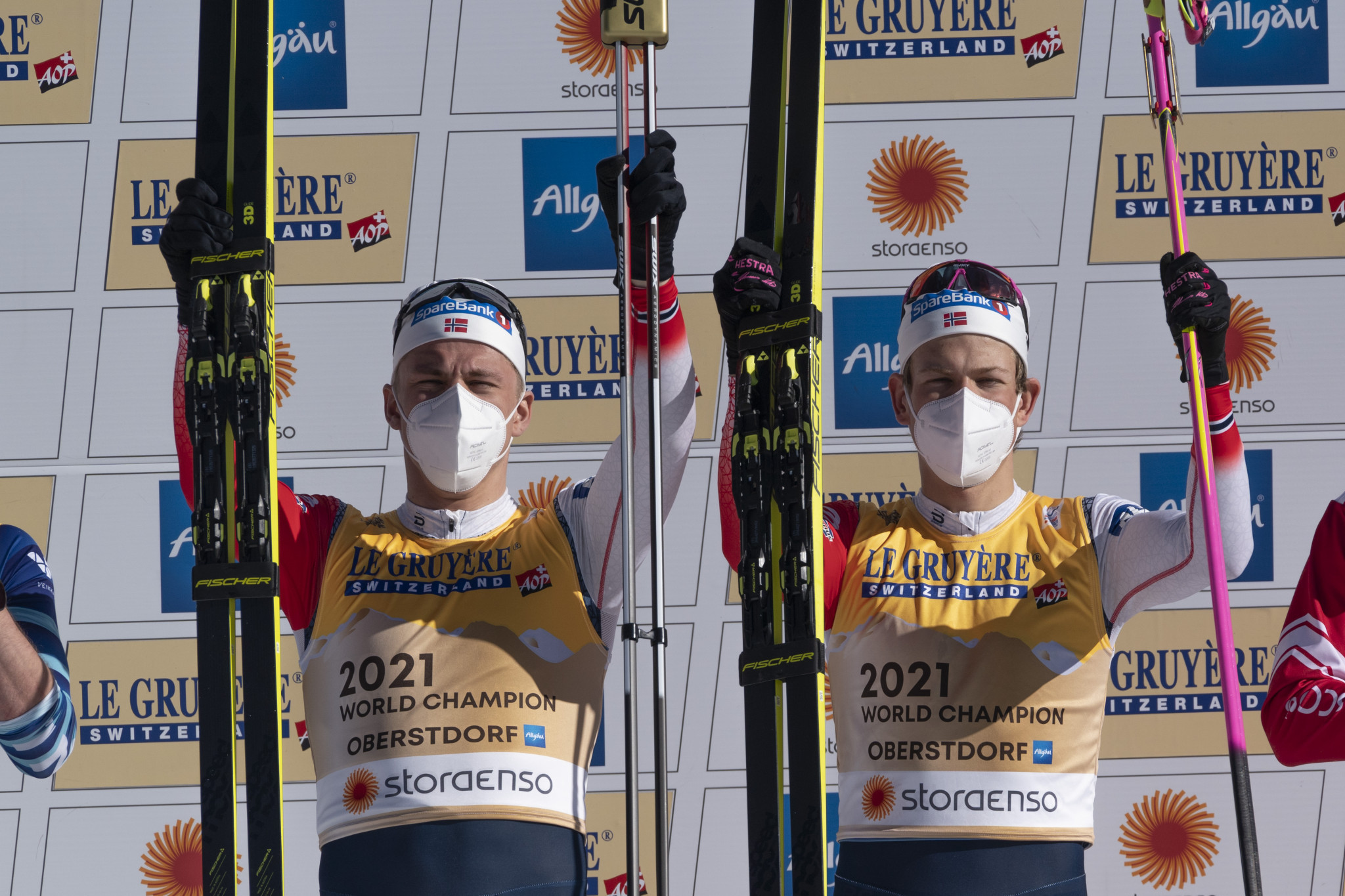 Klæbo and Sundling earn second gold in team events at Nordic World Ski Championships