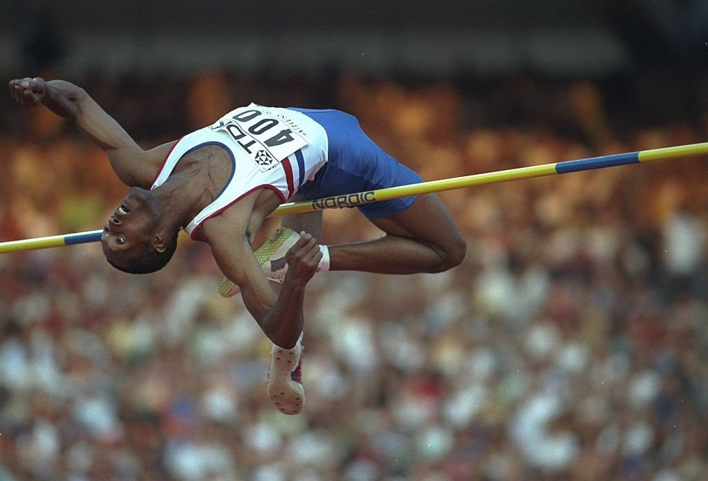 Britain's Dalton Grant - a high jumper with talent and guts who had his golden breakthrough at the 1994 European Athletics Indoor Championships in Paris ©Getty Images