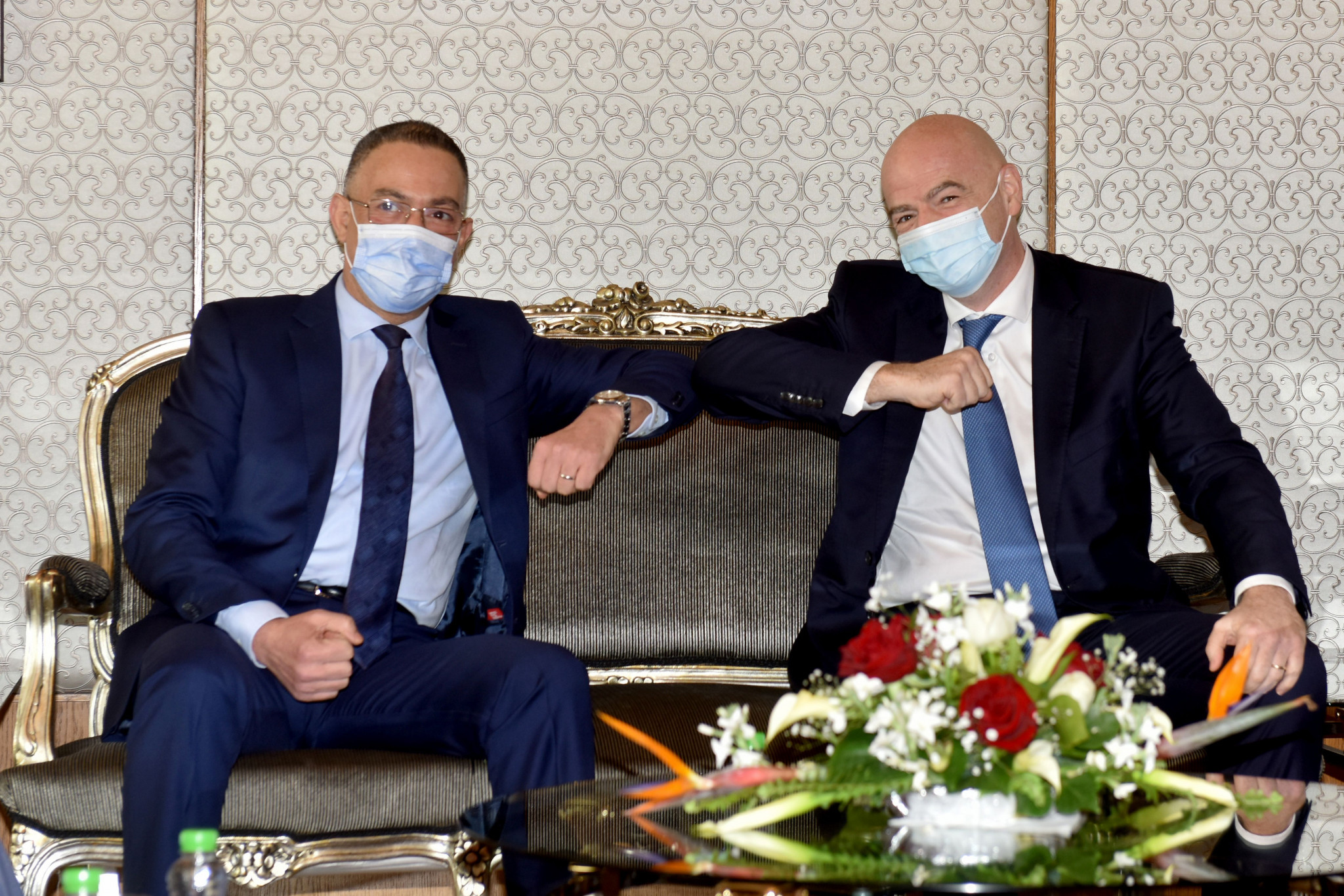 Morocco was one of numerous African countries visited by FIFA President Gianni Infantino, right, last month ©Getty Images