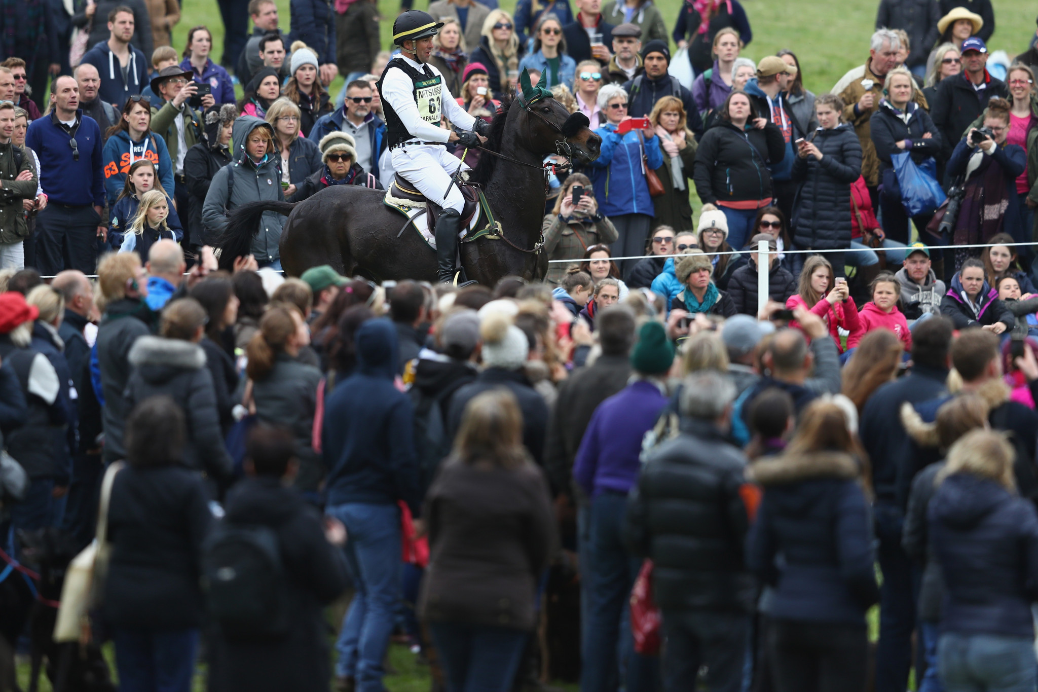 The Badminton Horse Trials, which traditionally attracts large crowds, has been cancelled for the second year in a row due to the coronavirus pandemic ©Getty Images