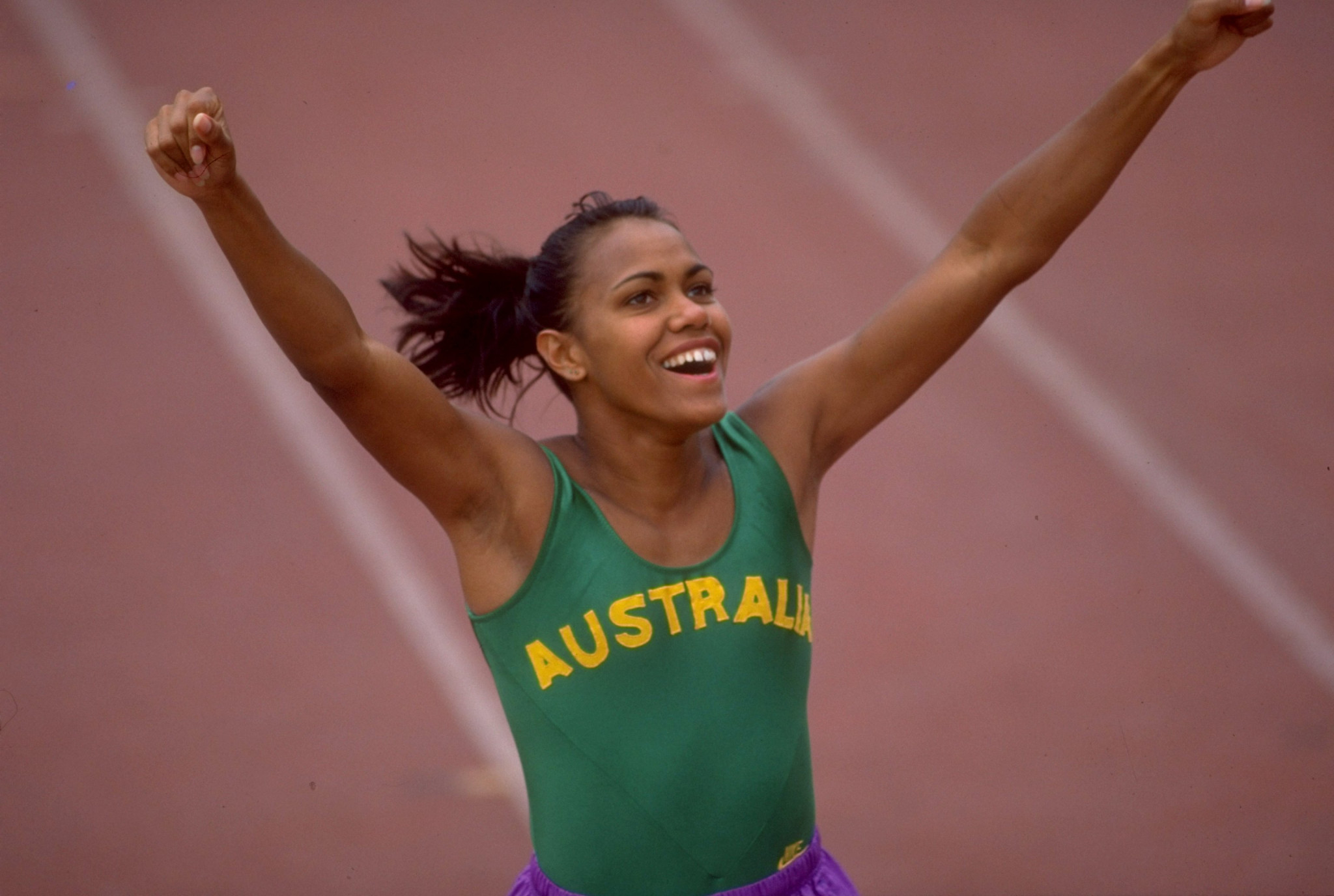 Cathy Freeman celebrated her Aboriginal heritage at the Commonwealth Games ©Getty Images