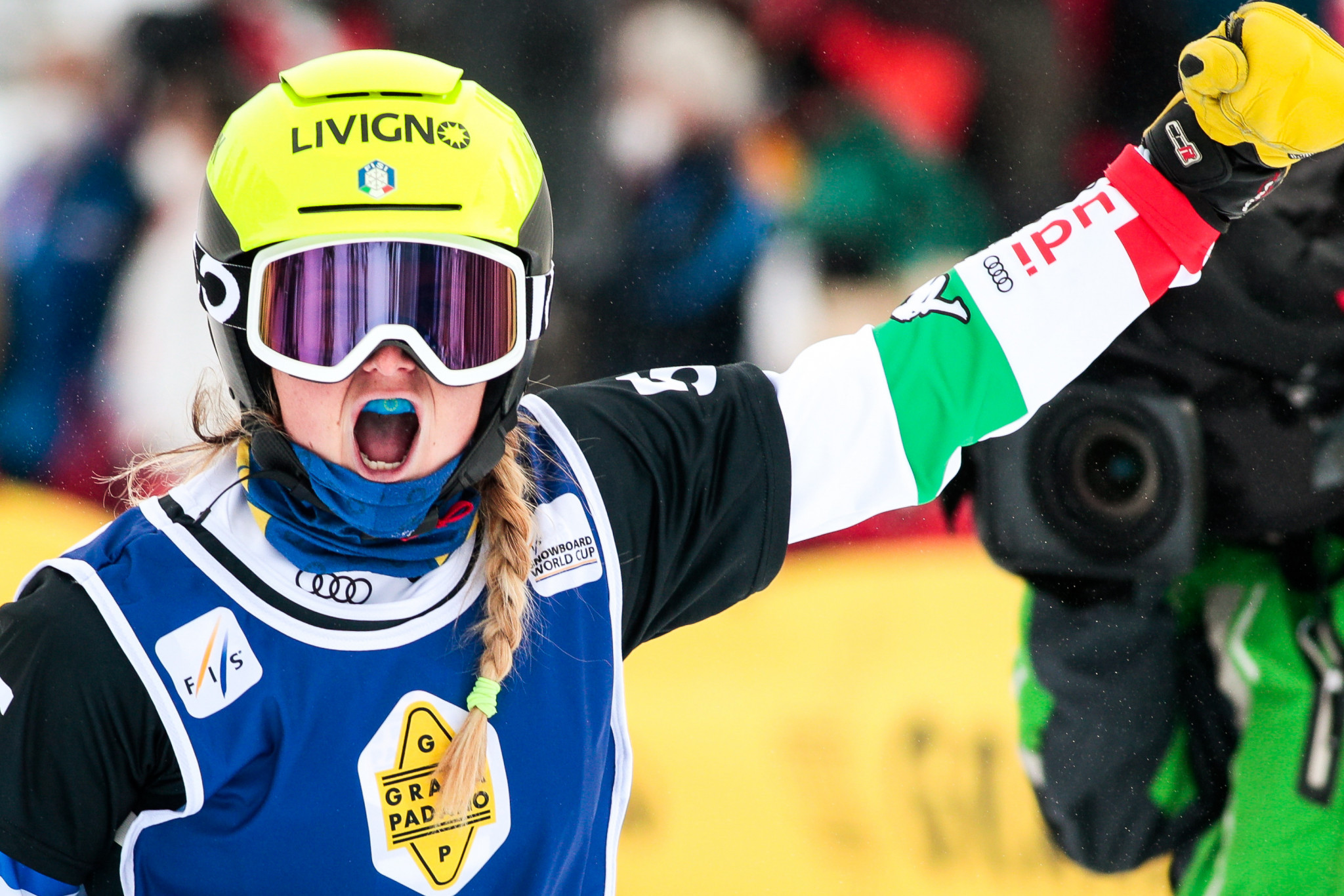 Michela Moioli is on course to defend her Snowboard Cross World Cup crown ©Getty Images