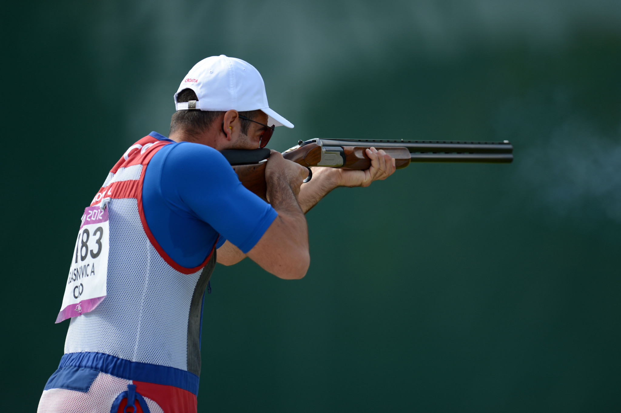 Anton Glasnović was the victor in the men's trap event ©Getty Images