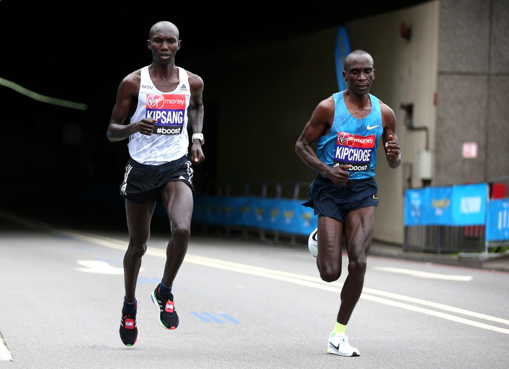 Wilson Kipsang (left) is confident concerns about doping in Kenya can be resolved ©Getty Images