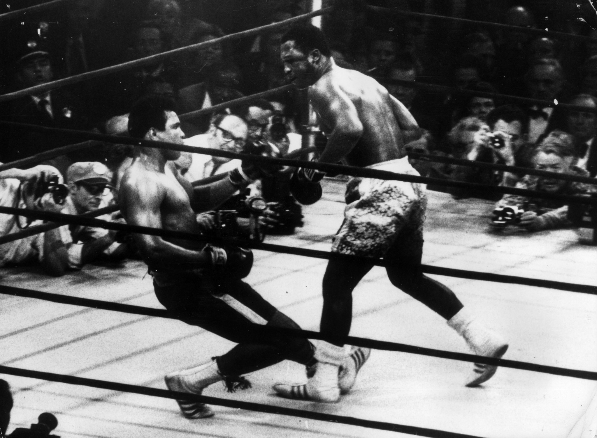 Our columnist recalls how 50 years ago he was lucky enough to be one of 760 writers ringside for the fight between Muhammad Ali and Joe Frazier ©Getty Images
