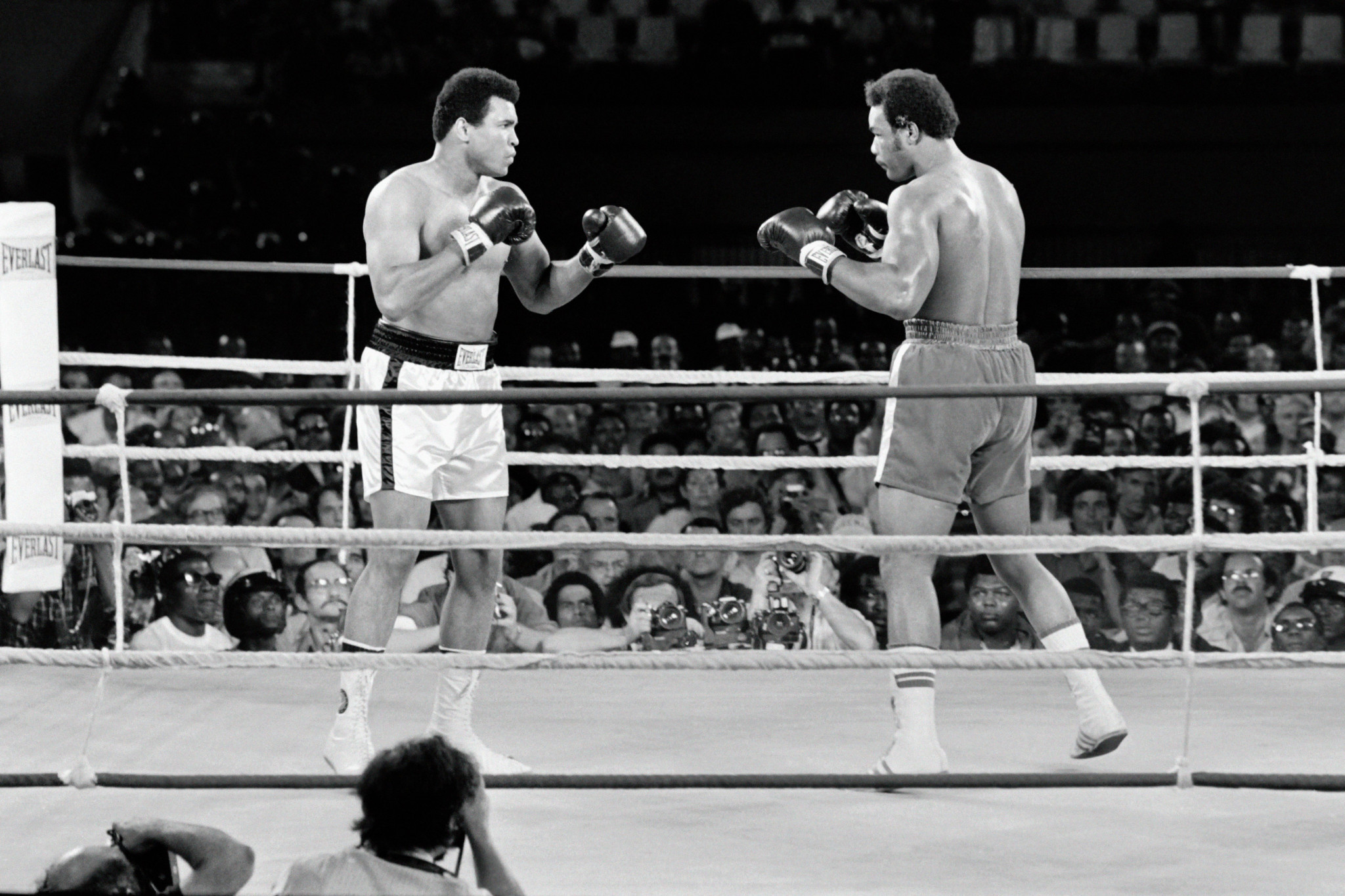 Our columnist argues that Muhammad Ali against George Foreman was a better spectacle than Ali-Frazier, billed as the fight of last century ©Getty Images
