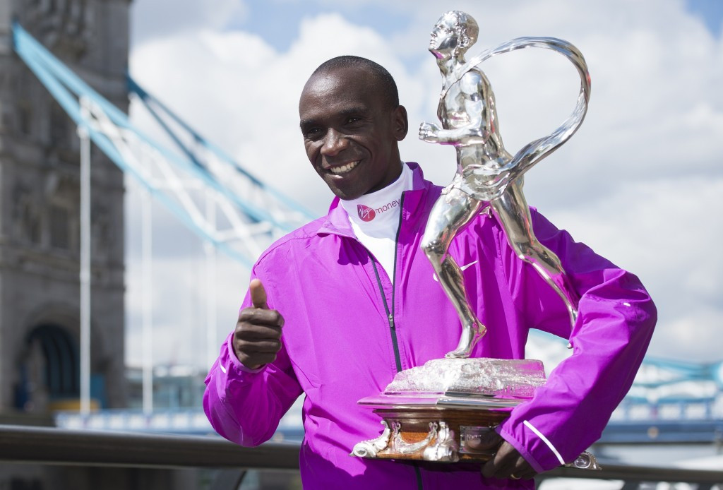 Eliud Kipchoge will be vying to defend his men's London Marathon title
