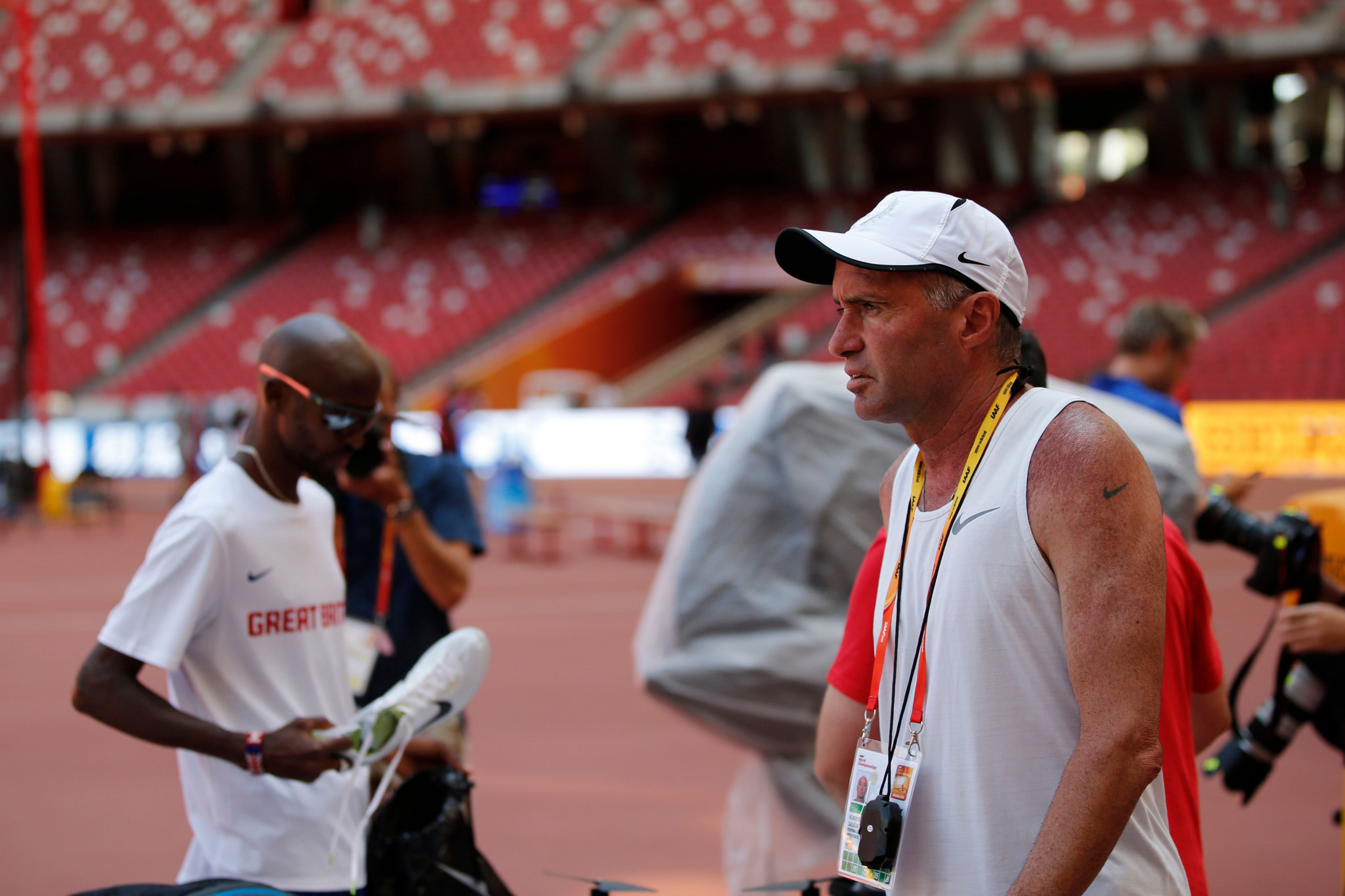 Britain's four-time Olympic gold medallist Sir Mo Farah worked with Alberto Salazar ©Getty Images