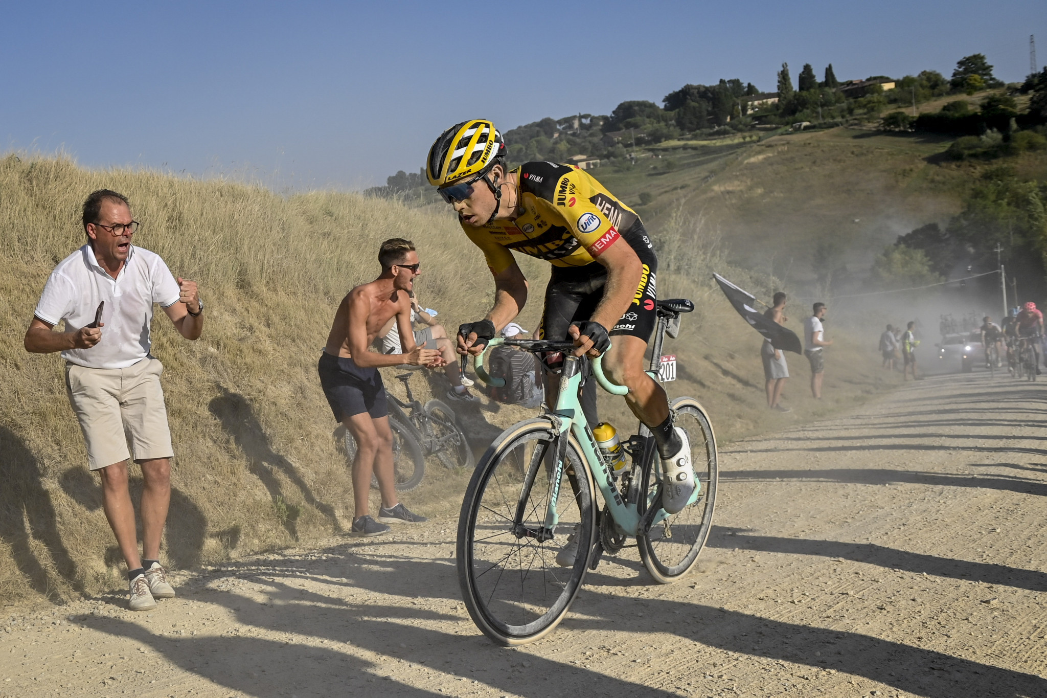 Wout van Aert will be looking to defend the Strade Bianche title ©Getty Images