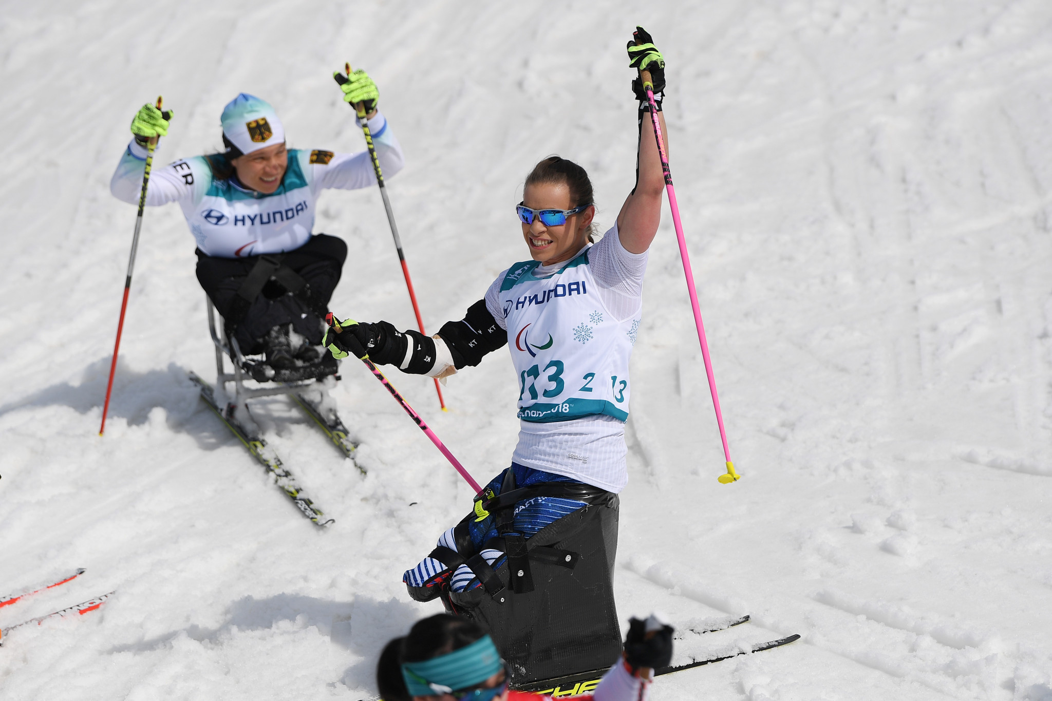 Masters beats American rival Gretsch to win gold at Para Nordic Skiing World Cup