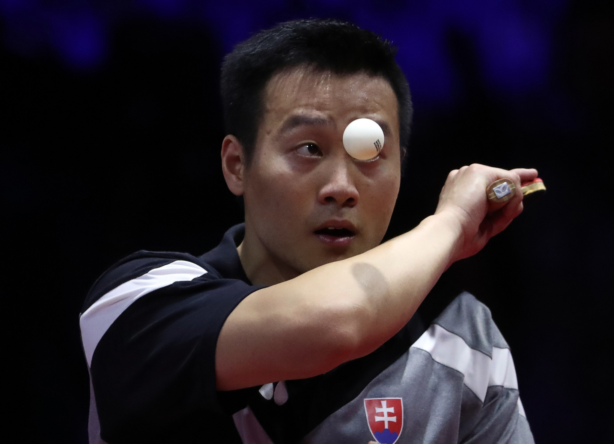 Yang Wang of Slovakia was eliminated from the men's singles for breaching COVID-19 regulations ©Getty Images